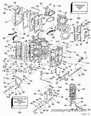 Diagram Of 1998 E90tslecm Evinrude Intake Manifold Diagram And Parts