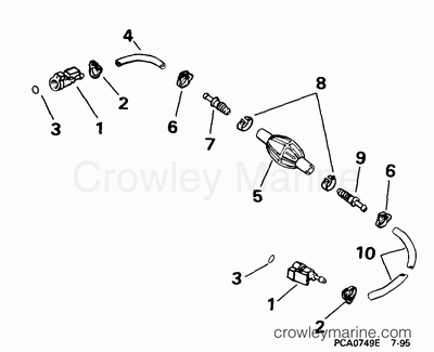 evinrude manual tilt assist cylinder cable