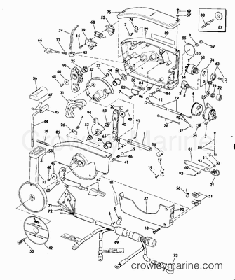 Omc Carburetor Diagram on mercruiser 3000 throttle control diagram