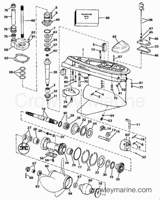 1988 omc stern drive 5 504aprgdp parts lookup. Black Bedroom Furniture Sets. Home Design Ideas