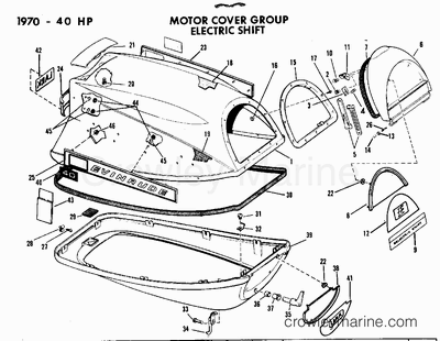 1970 evinrude outboards 40  40073a