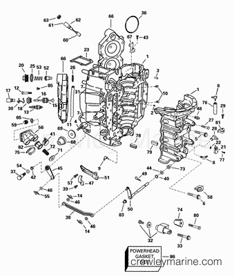 Diagram Of 1998 E90tslecm Evinrude Intake Manifold Diagram And Parts