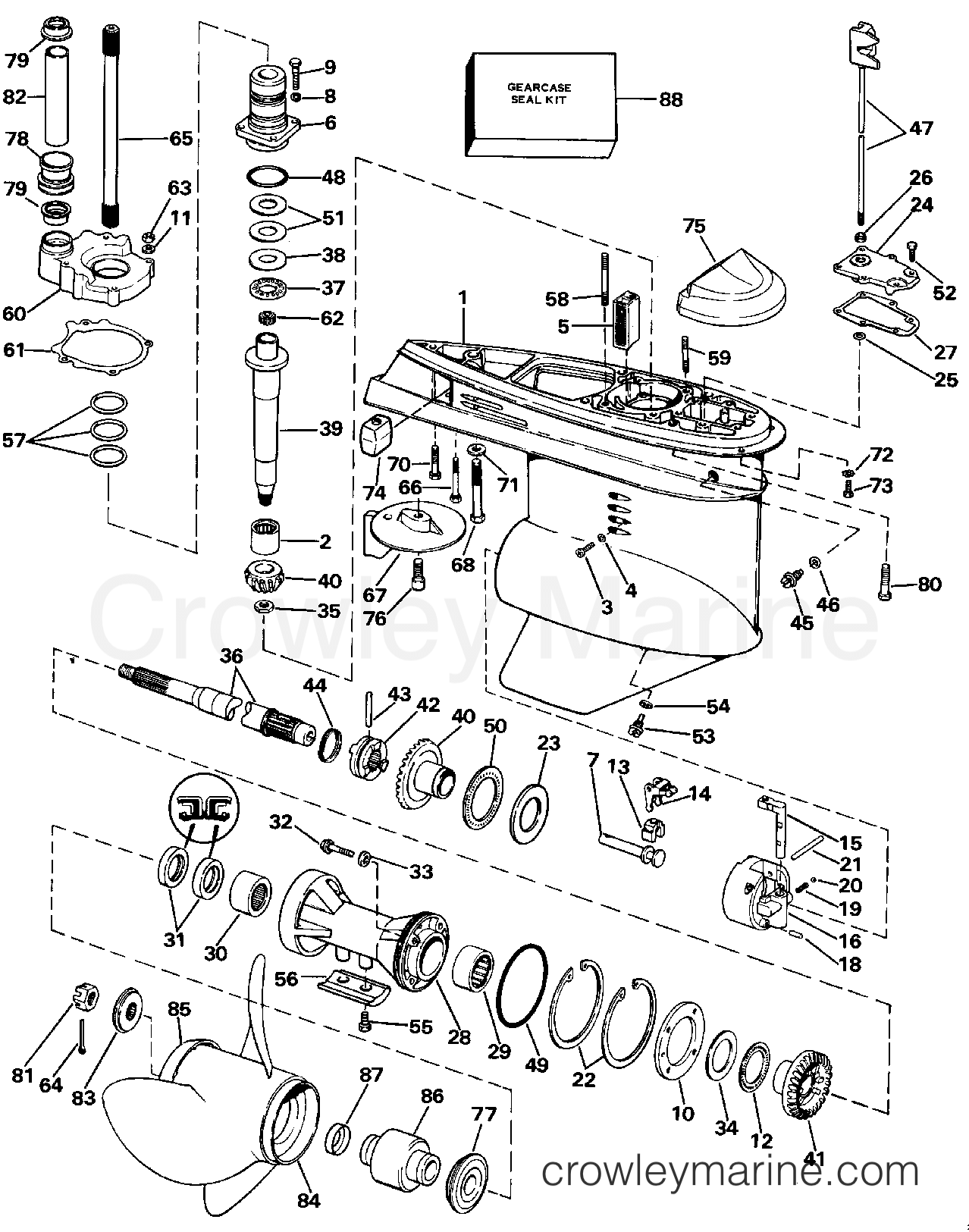 1988 Omc Cora Wiring Diagram Diagrams Cobra 3 0 Lower Gearcase Stern Drive 2 232amrgde 30 Shop Manual