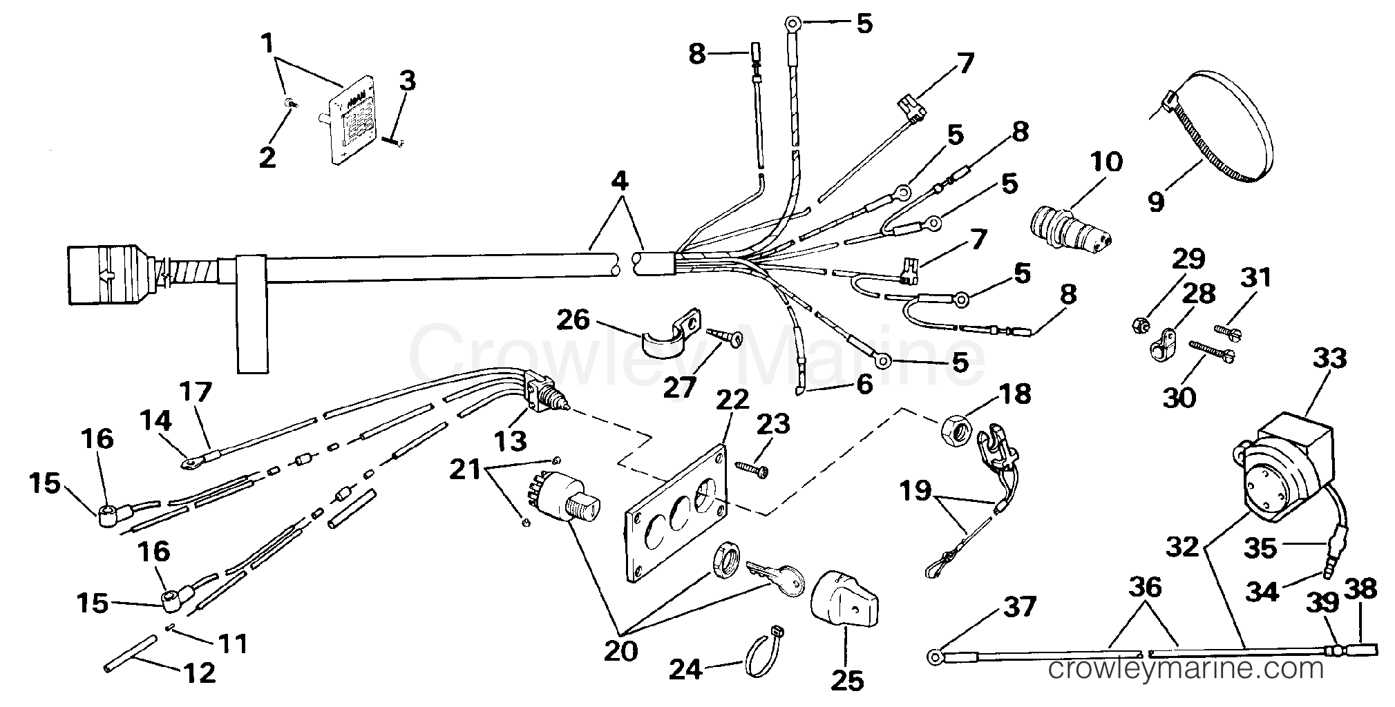 wiring kit - dual engine 225cx