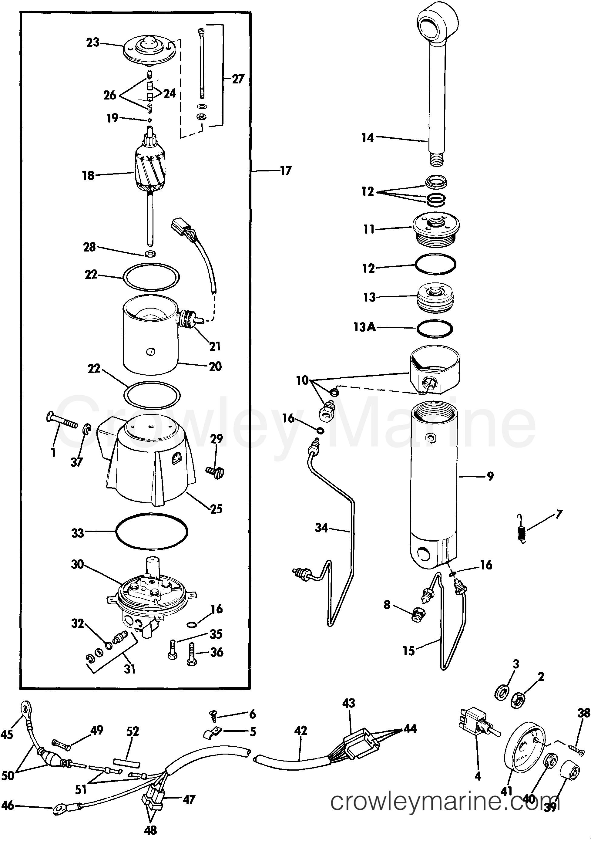 1985 Rigging Parts Accessories - Power Trim & Tilt - POWER TILT KIT ASSEMBLY 65 THRU 115