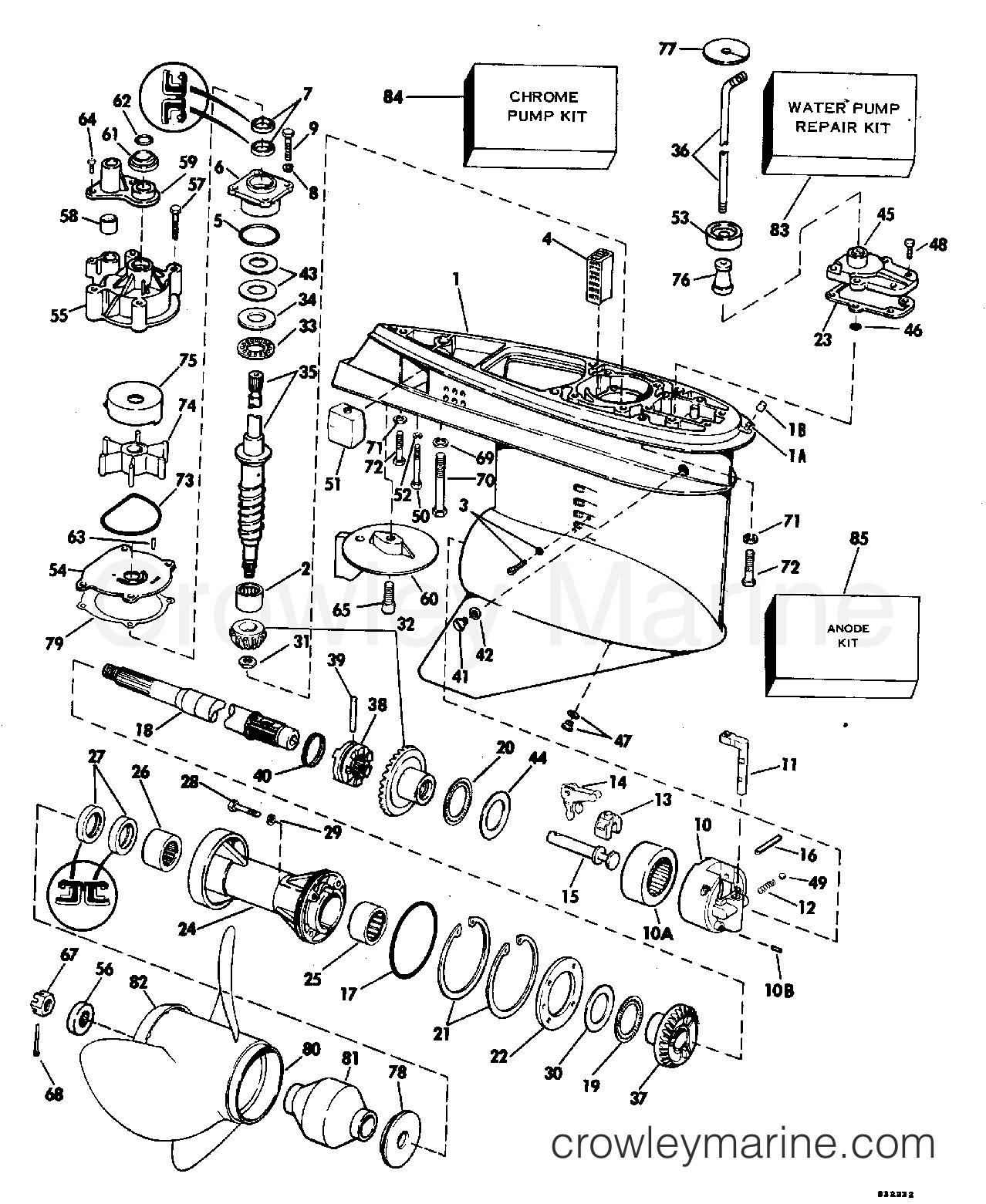 1983 Evinrude Outboards 200 - E200TRXCTD - GEARCASE