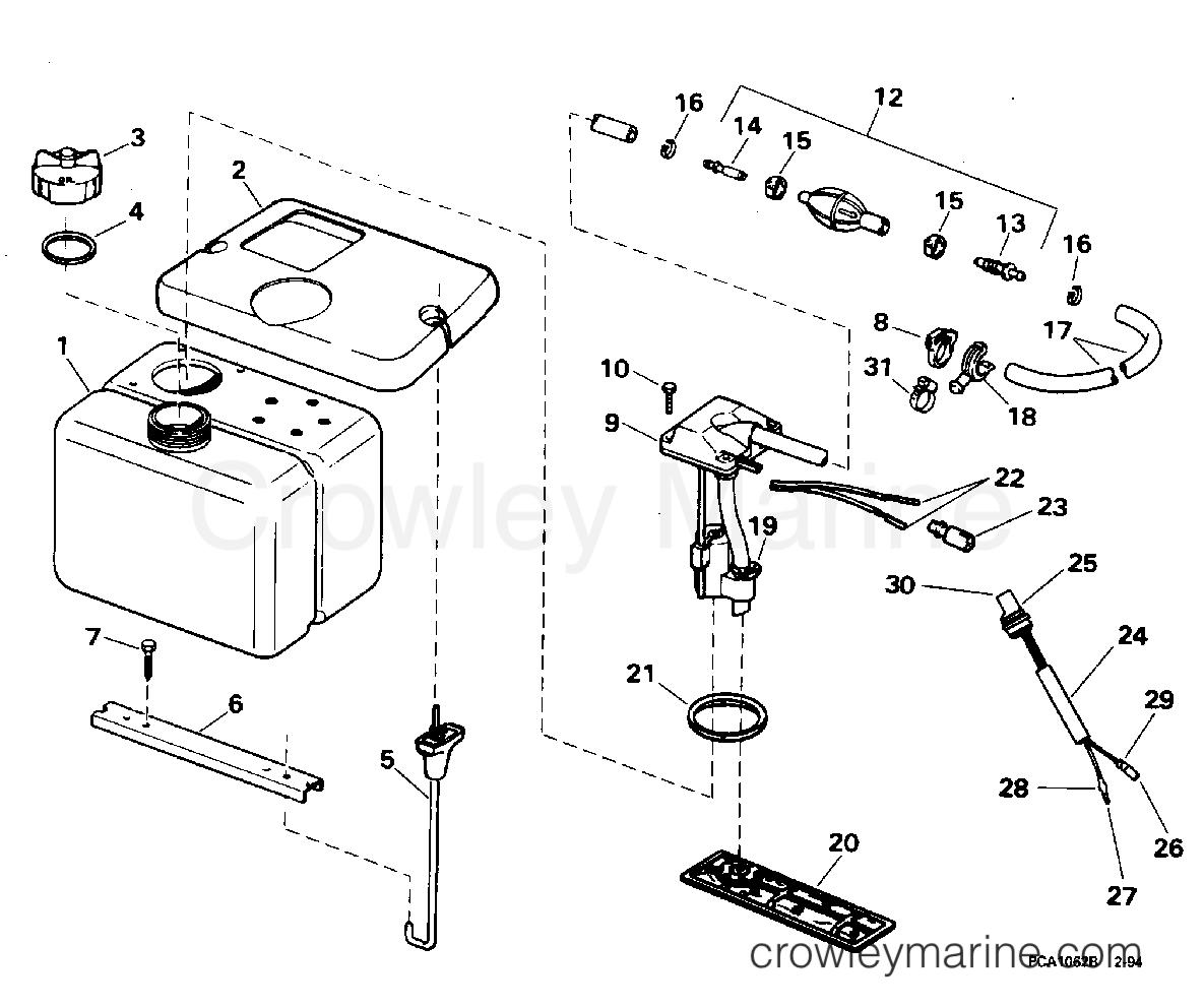 oil tank kit 1995 omc turbojet 115 115jeeob crowley marine rh crowleymarine com 3-Way Switch Wiring Diagram Light Switch Wiring Diagram