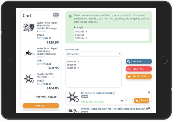 New bulk add items interface screenshot