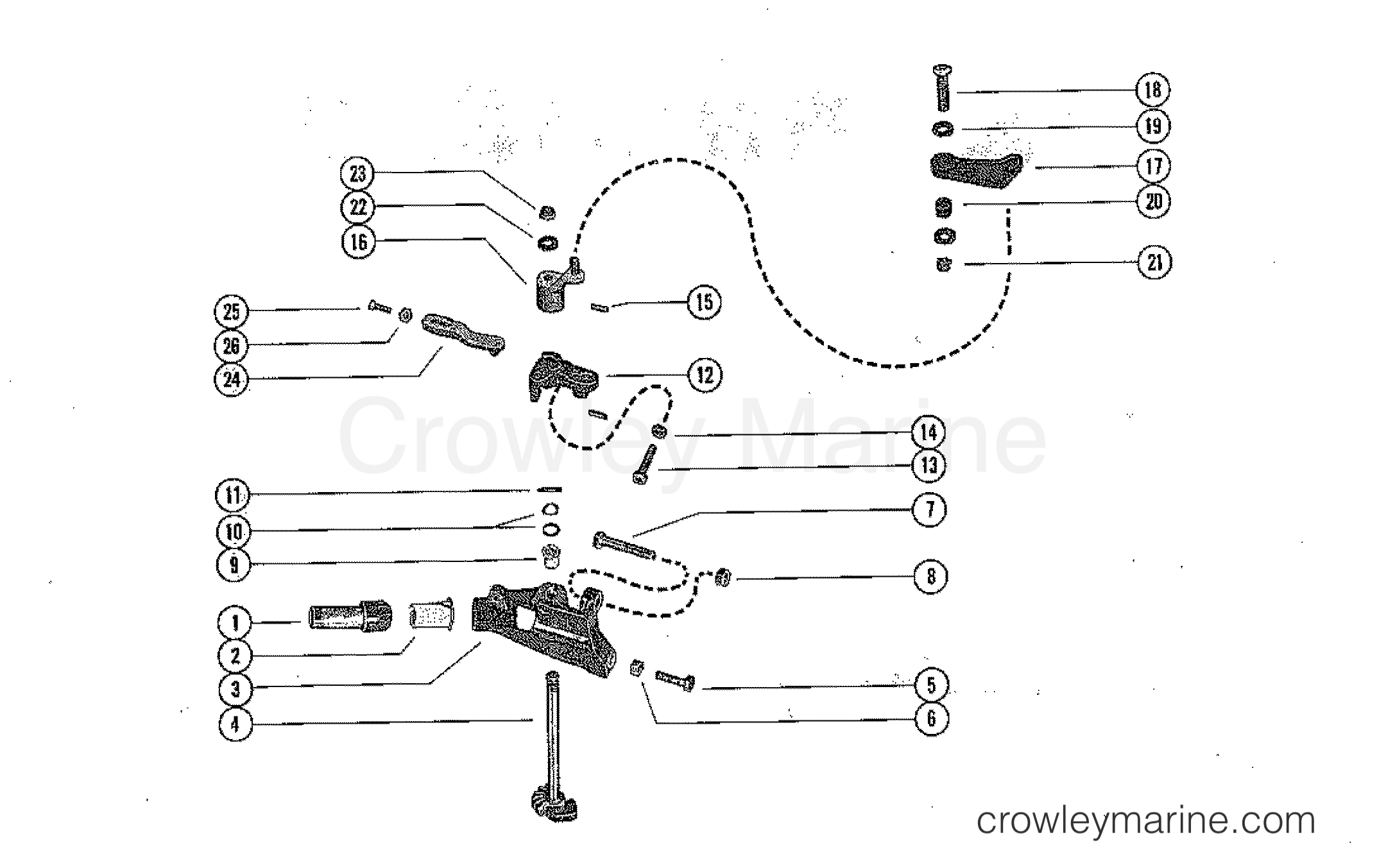 Stator Plate Part 60864. Mercury Quicksilver Lever Vertical Shaft