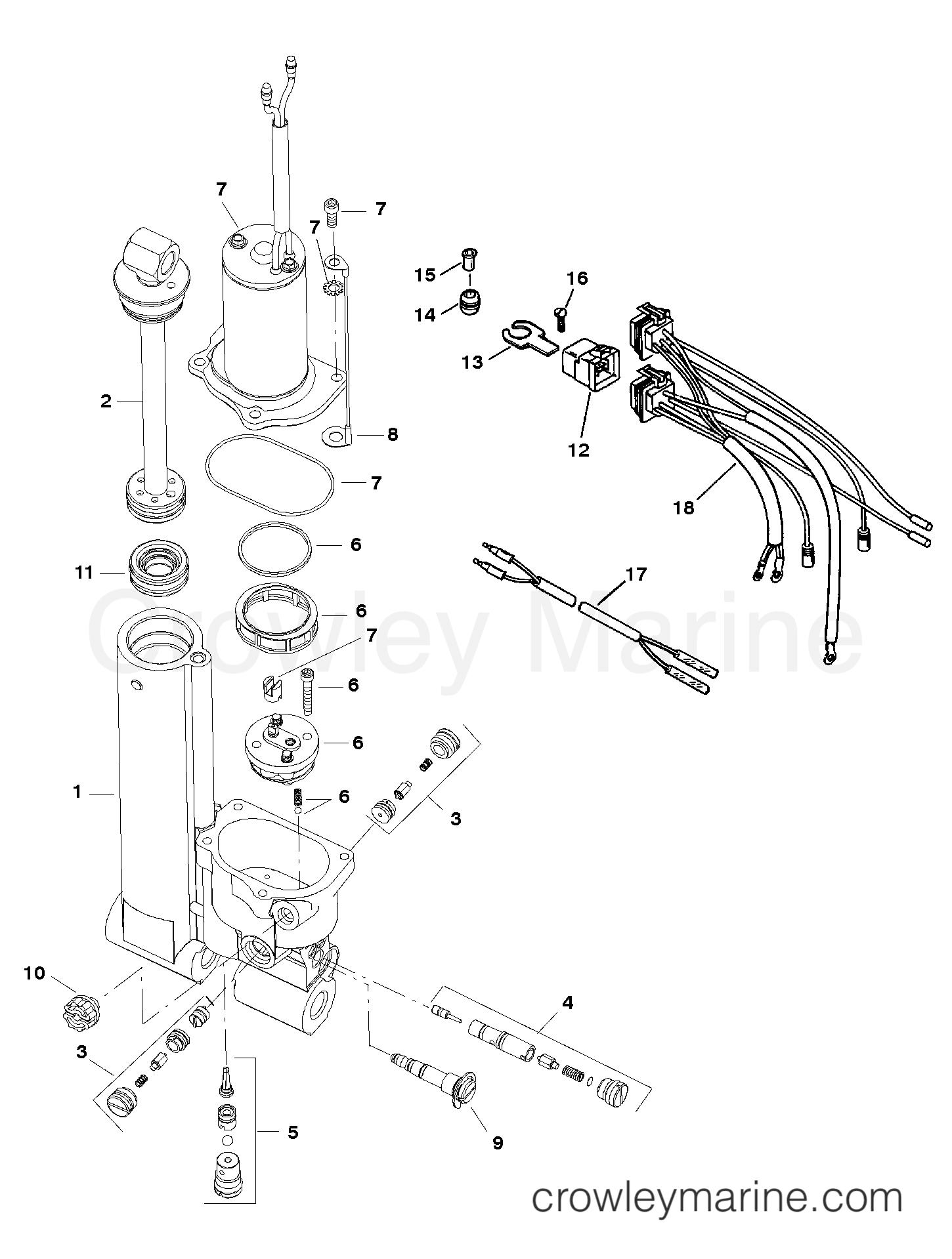 power trim assembly