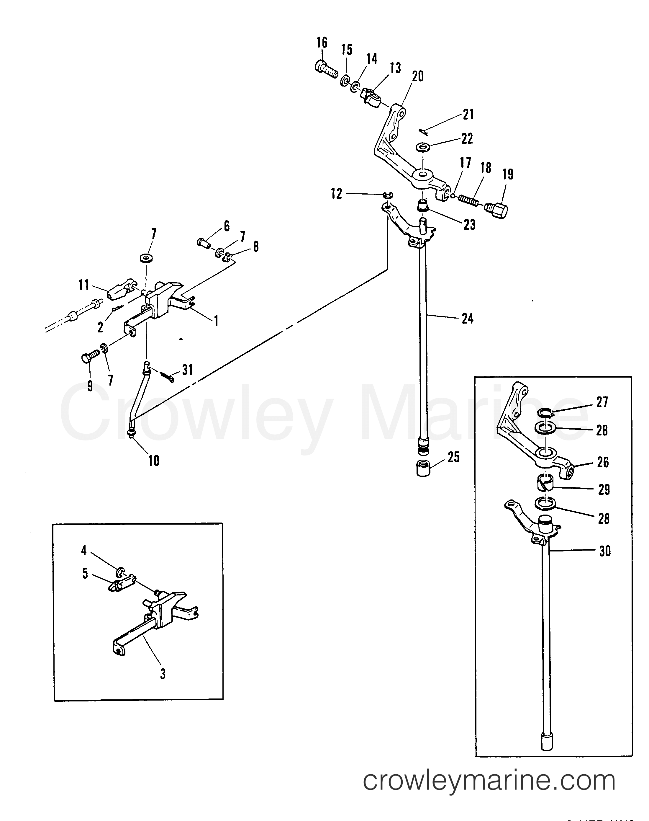 Mercury Outboard Shift Linkage Diagram