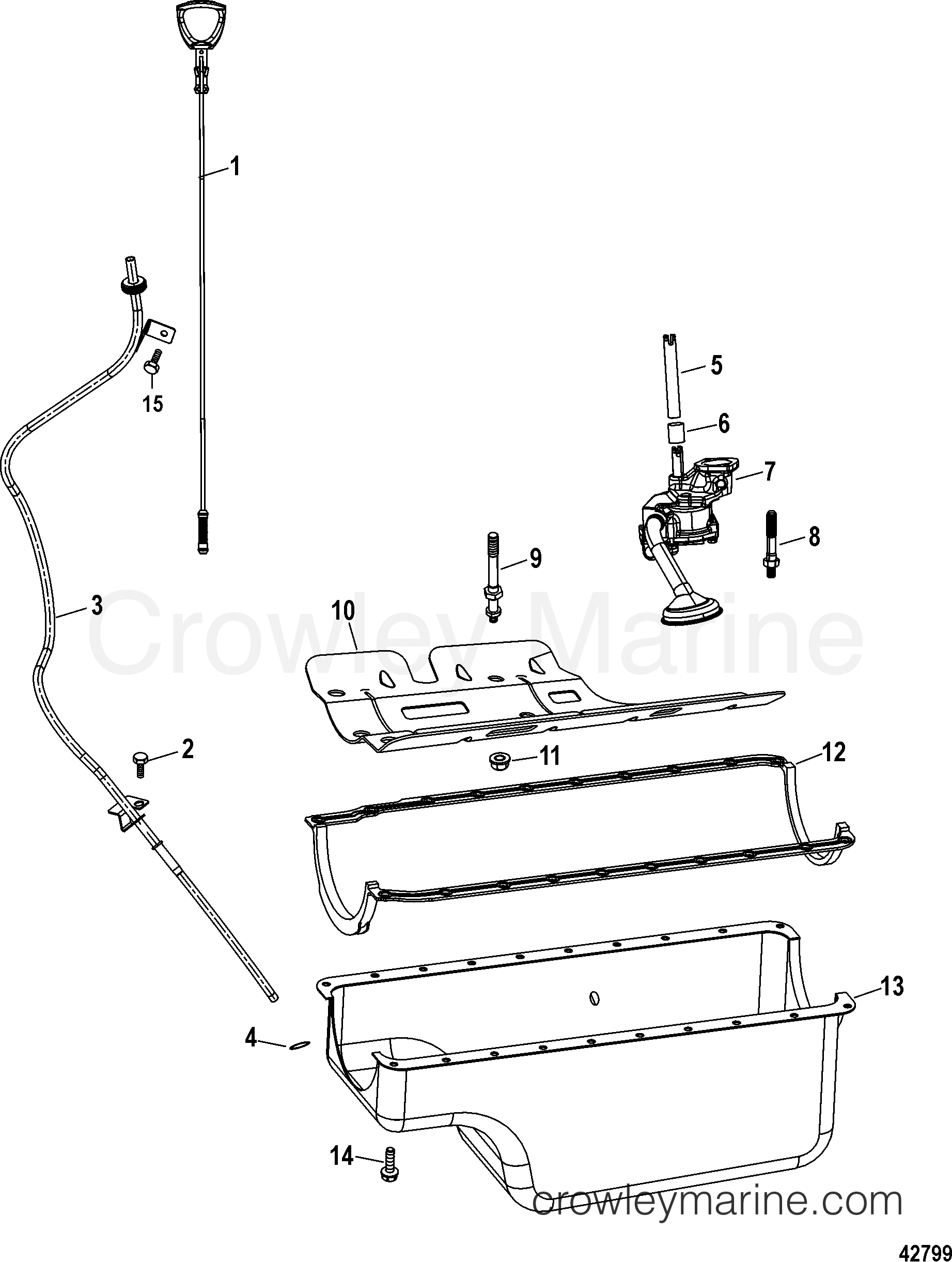 OIL PAN AND OIL PUMP - 1998 Mercury Inboard Engine 8 2L [DTS