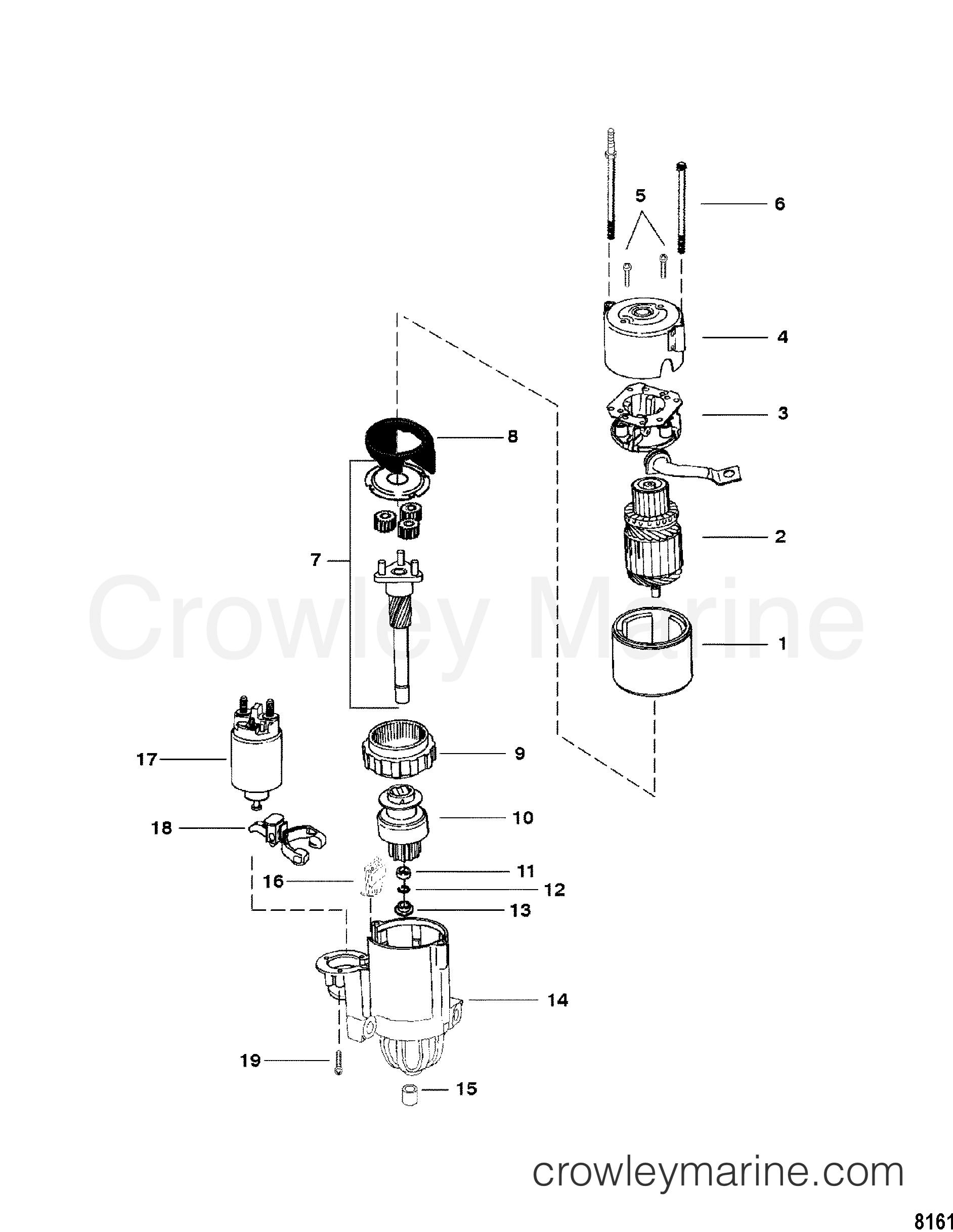 1996 Mercruiser 3.0LX [ALPHA] - 430L000JS - STARTER MOTOR section