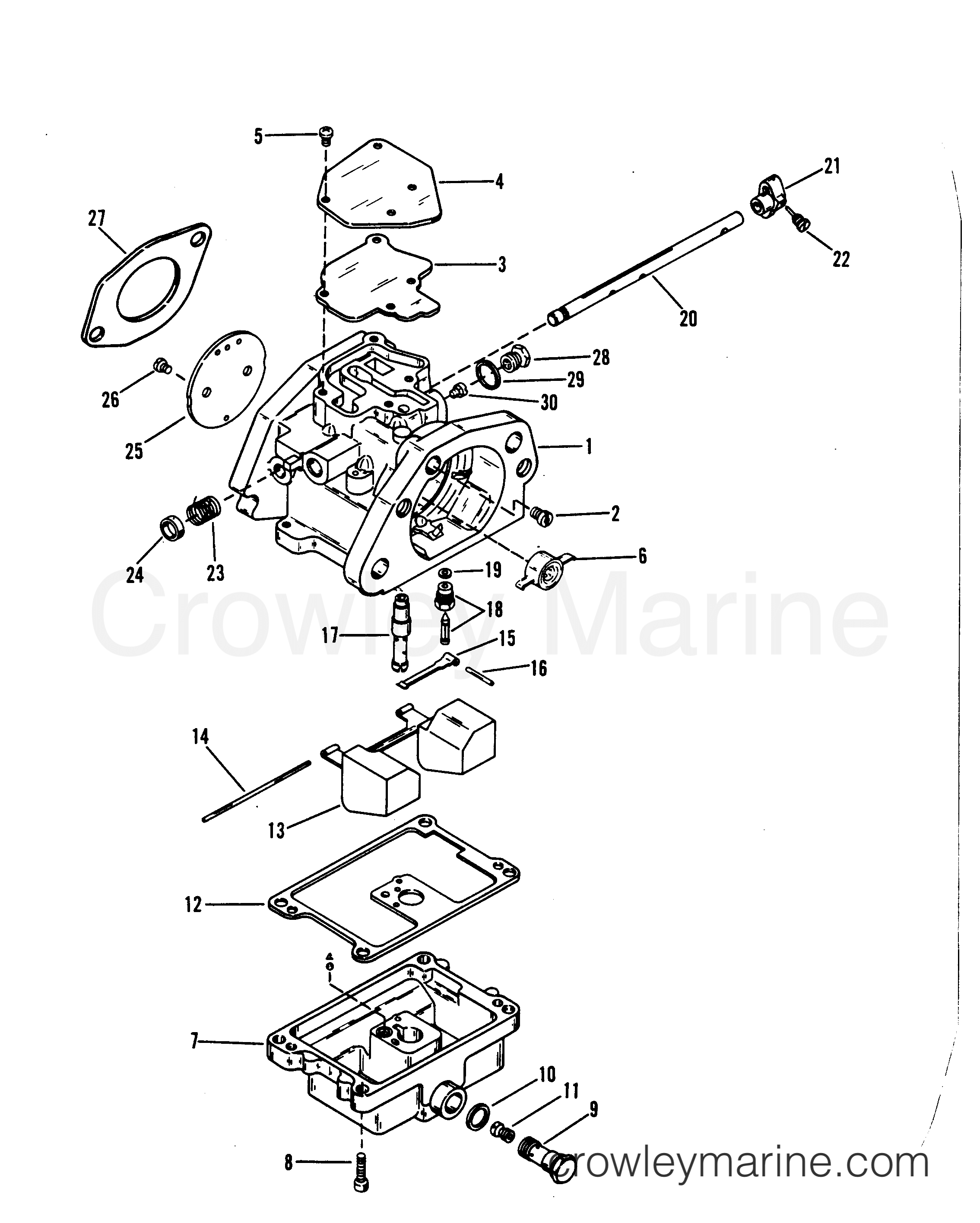1989 Mariner Outboard 250 [XL] - 7250422PD - CARBURETOR ASSEMBLY section