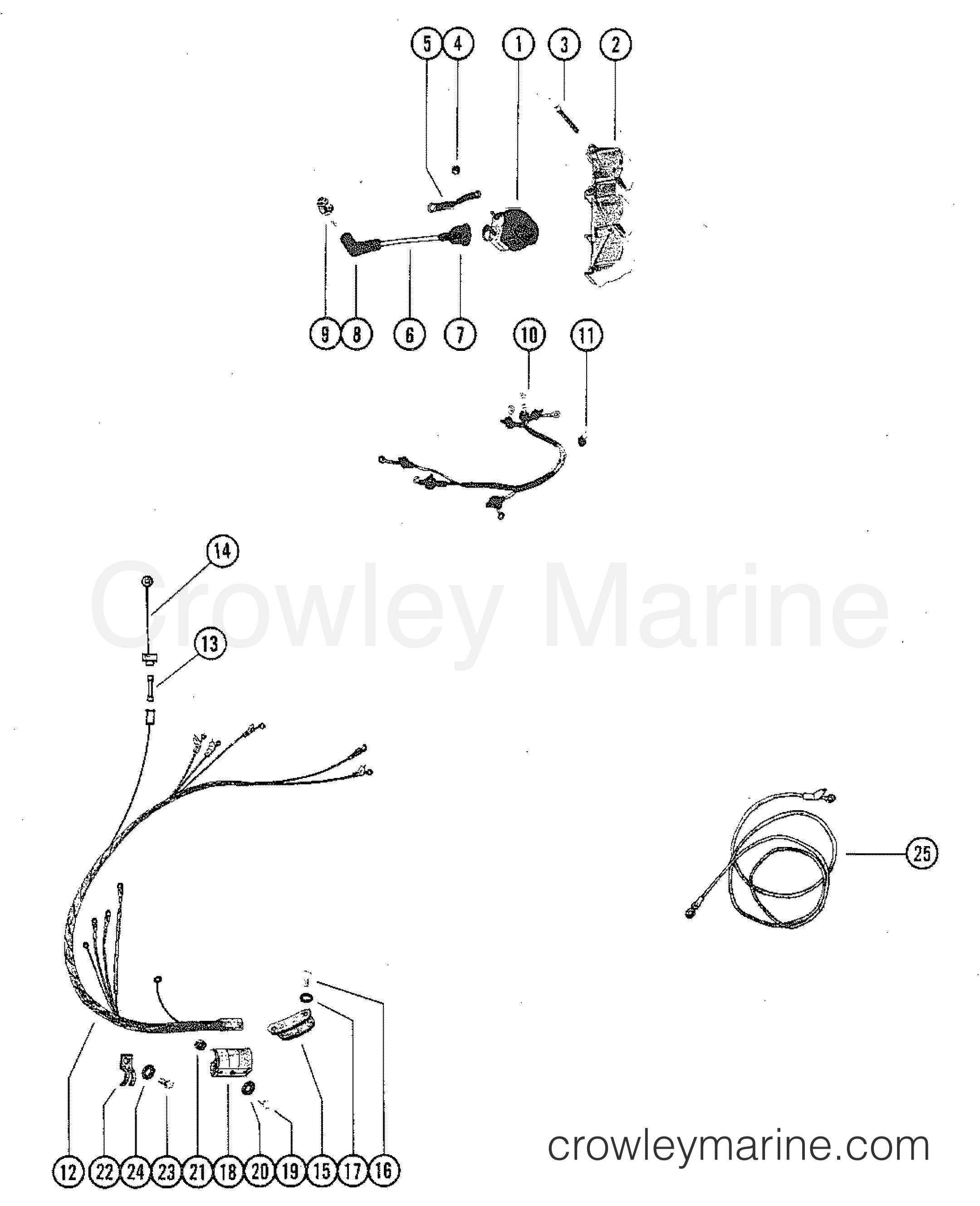 Wiring Harness And Ignition Coil 1980 Mercury Outboard 115 Elpt. 1980 Mercury Outboard 115 Elpt 1115620 Wiring Harness And Ignition Coil Section. Mercury. 1980 Mercury Outboard Wiring Diagram At Scoala.co