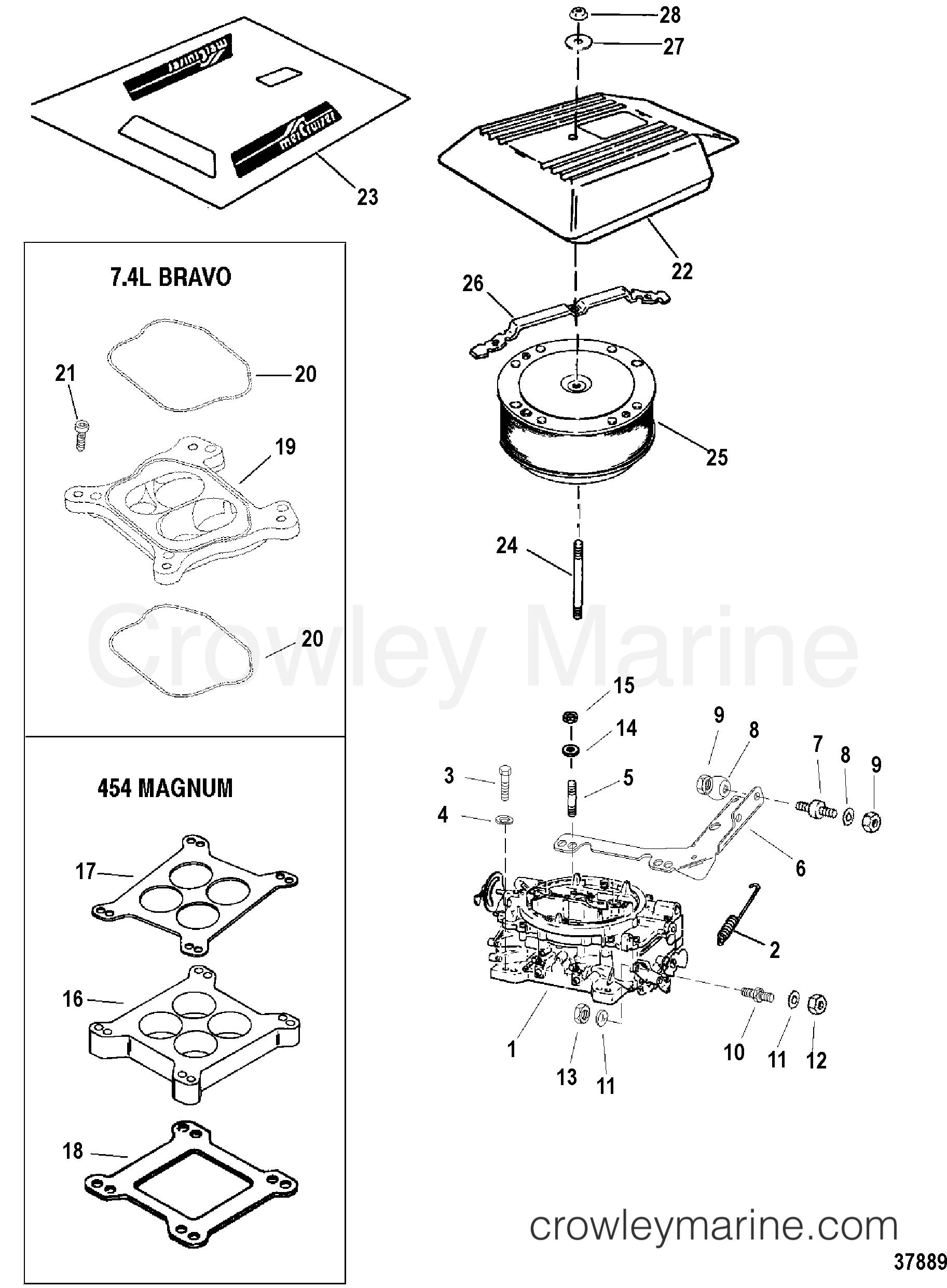 carburetor and flame arrestor