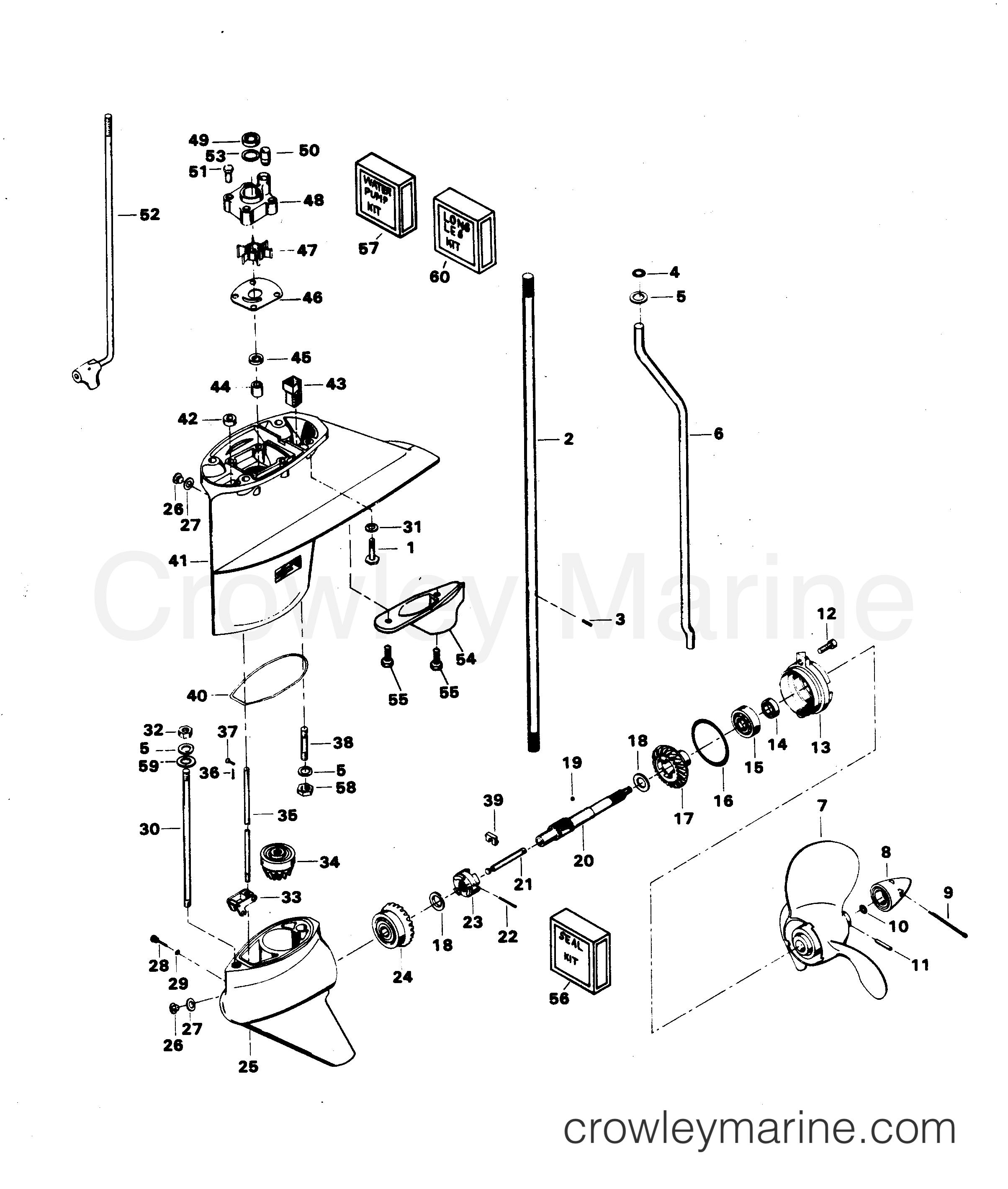 Pin-Shaft Screw// Chrysler Force Mercury QuickSilver F498891