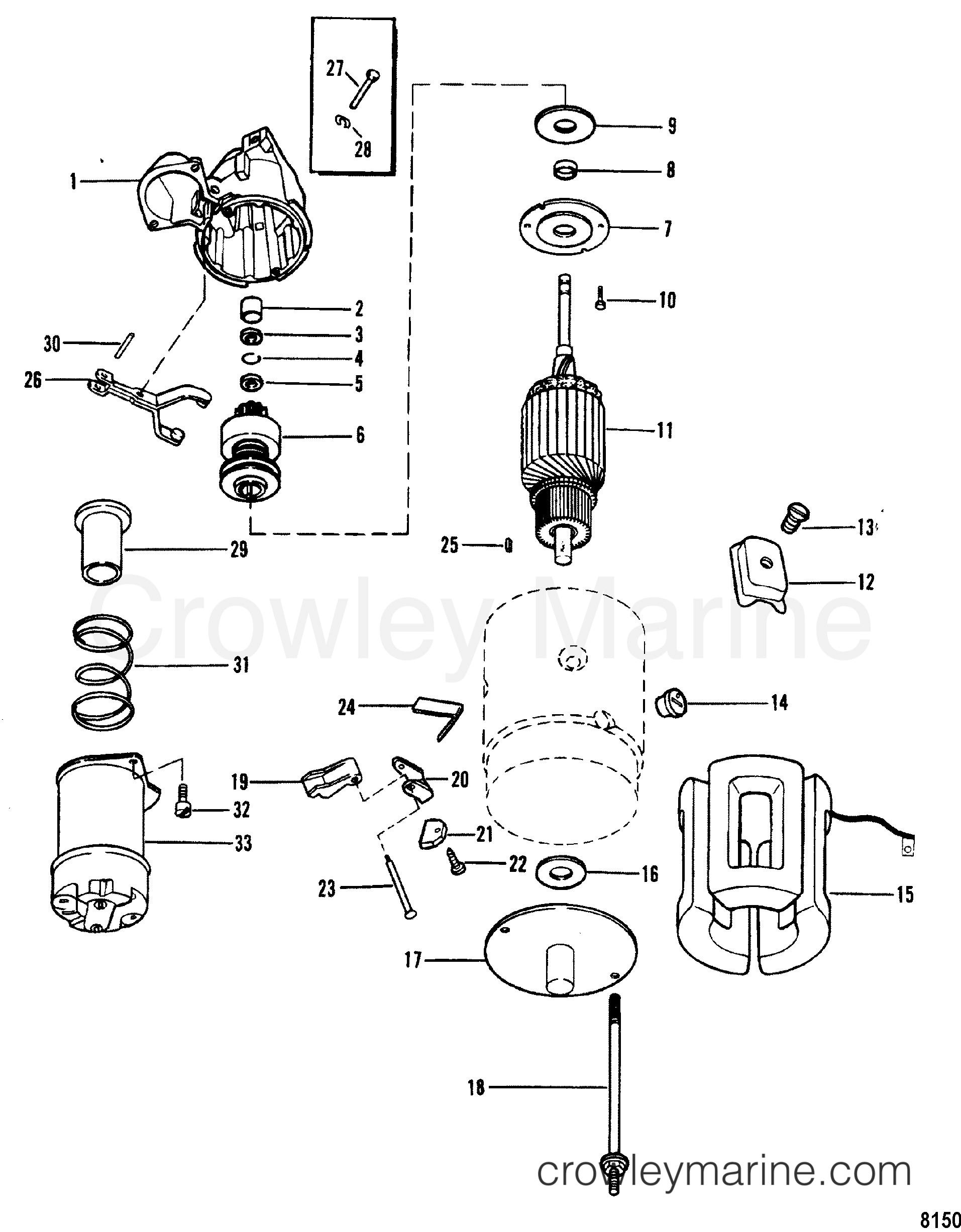 Mercruiser 30 Engine Distributor Diagram Electrical Wiring Diagrams Starter Motordelco Remy 1998317 1990 3 0l Alpha I Ford Taurus