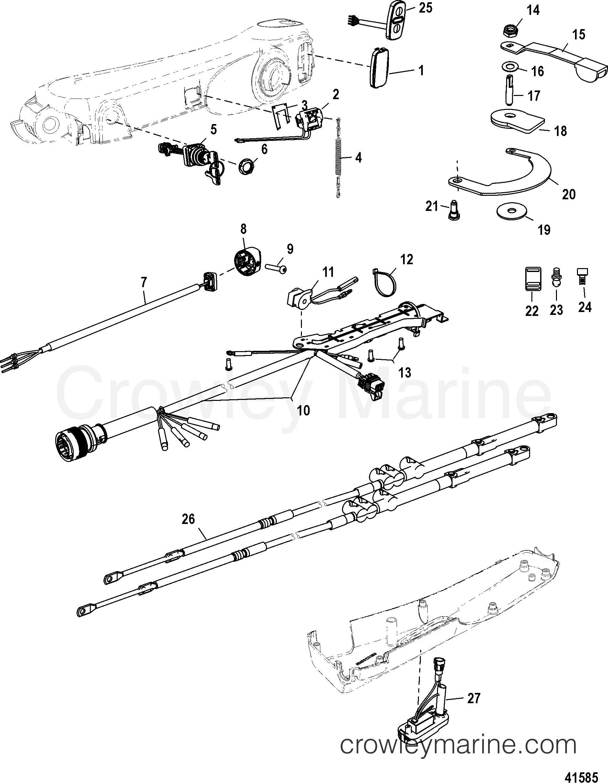 2006 Mariner Outboard 40EFI [ELPT 4] - 7E41412ZB - BIG TILLER HANDLE KIT  COMPONENTS