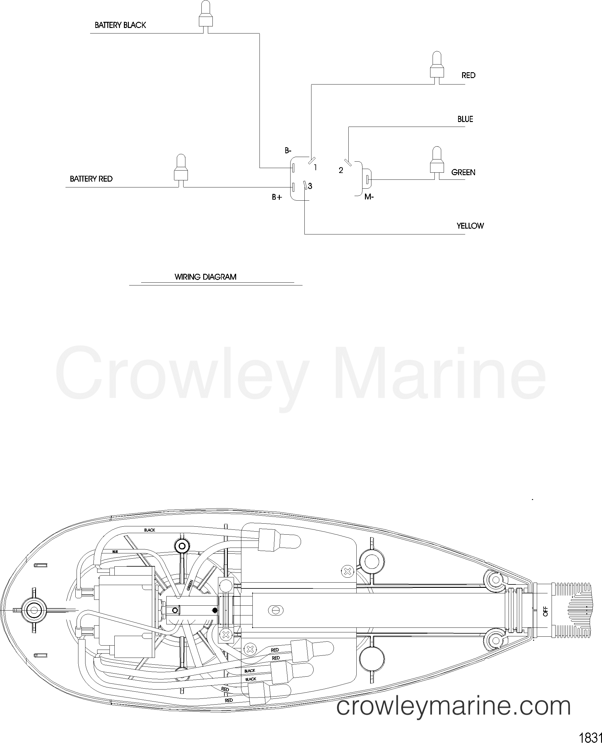 2005 MotorGuide 12V [MOTORGUIDE] - 921310040 WIRE DIAGRAM(MODEL FW71HP) (WITHOUT QUICK CONNECT) section