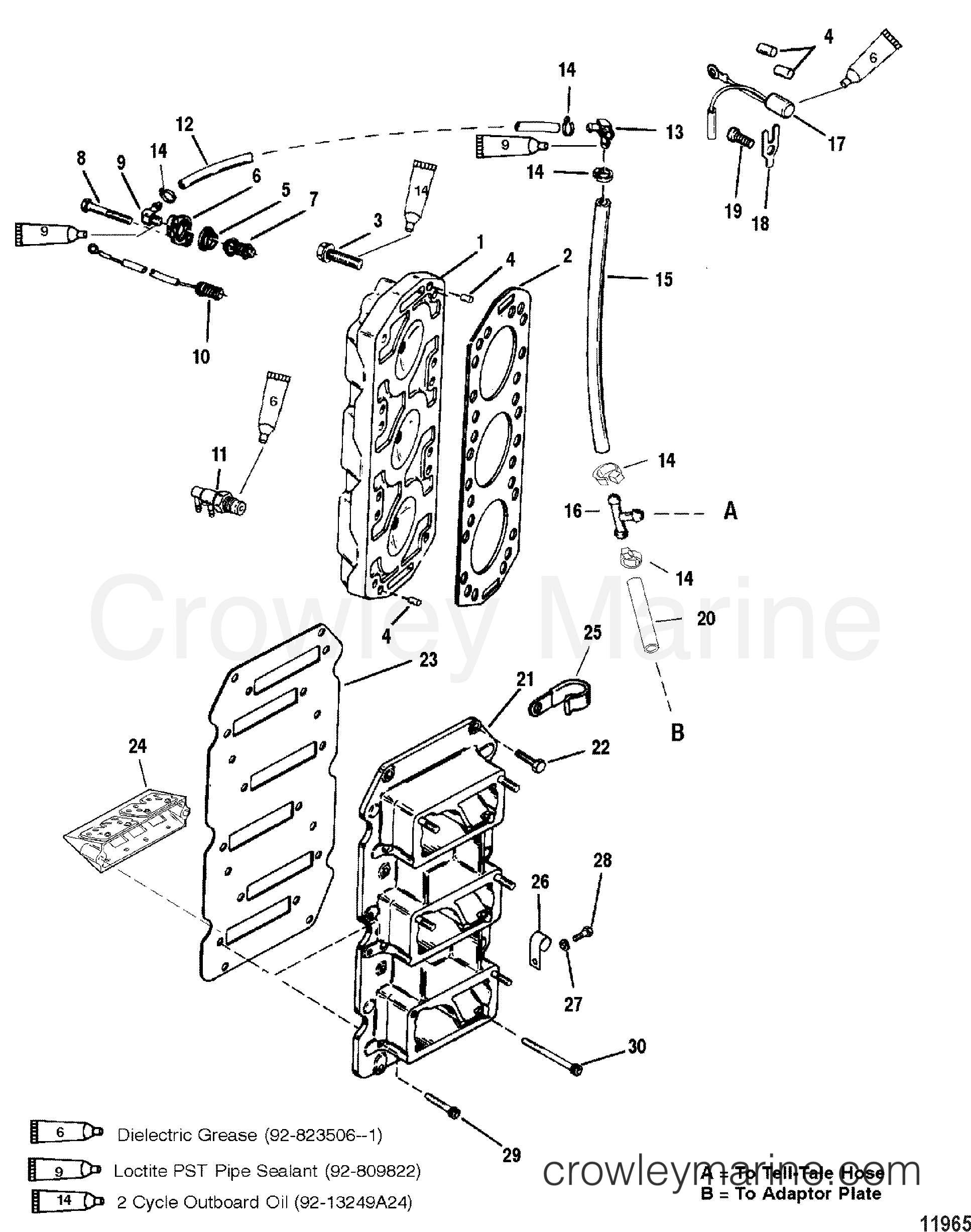 reed block and cylinder head