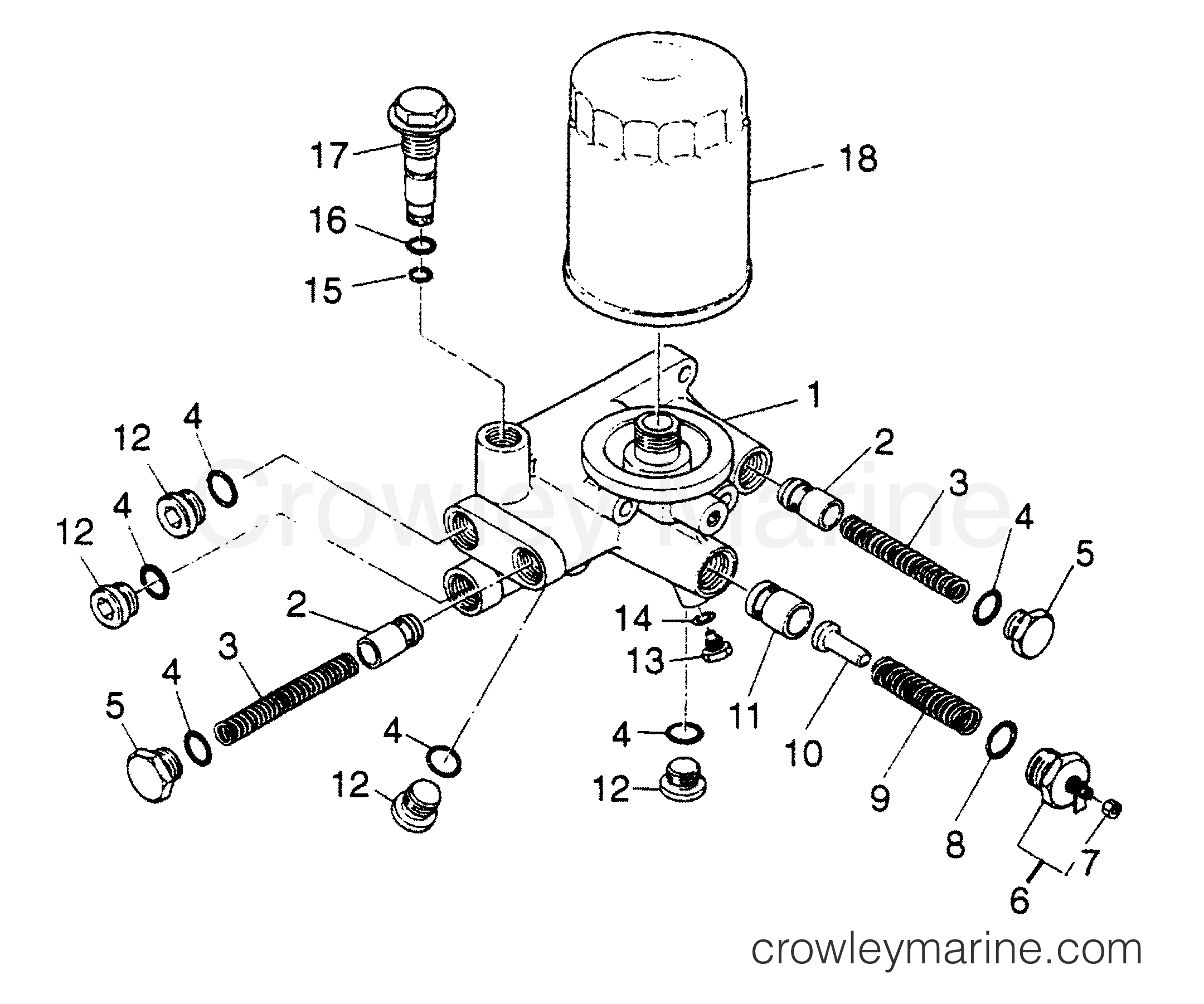 filter assembly - oil