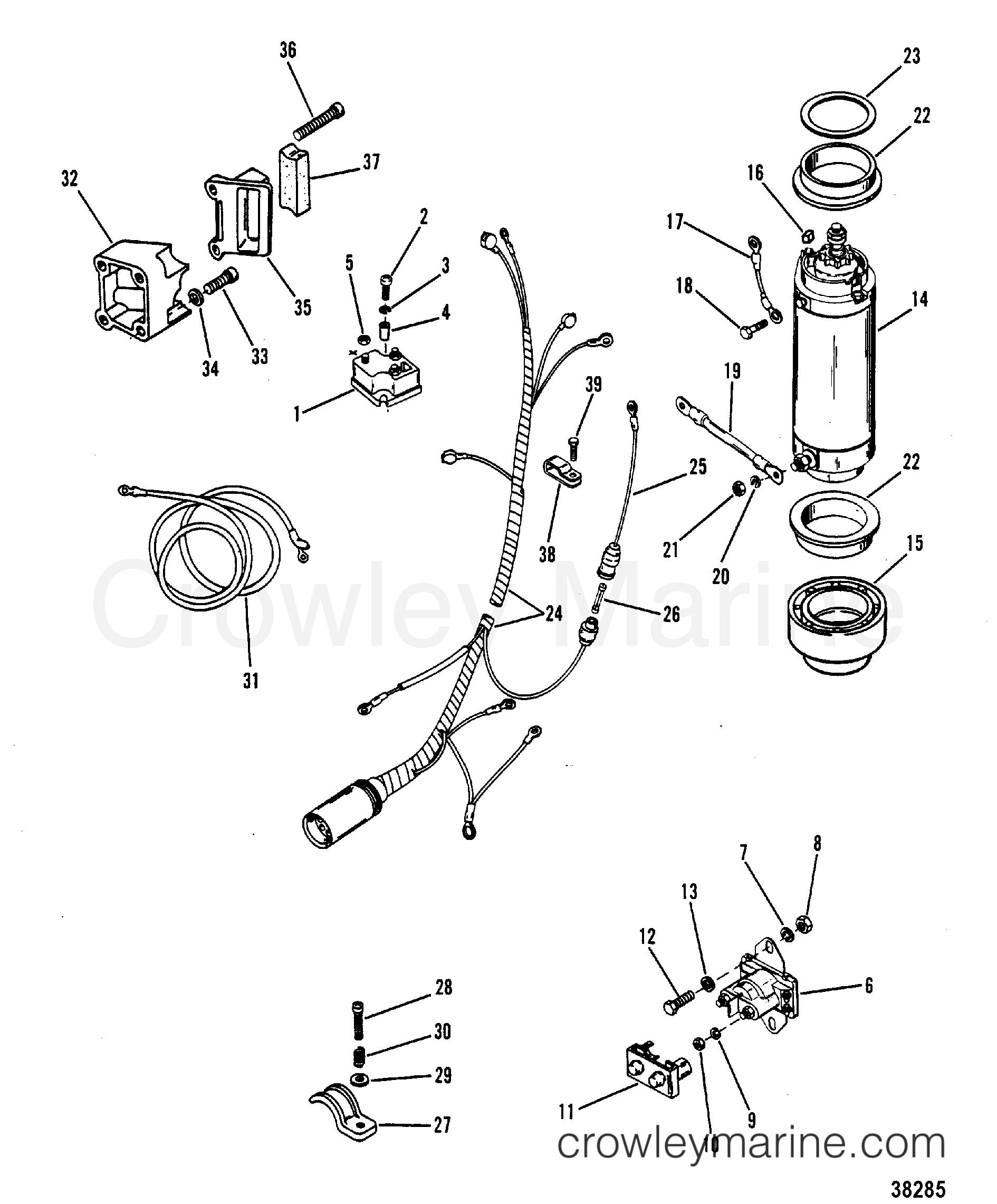 starter motor  starter solenoid  rectifier