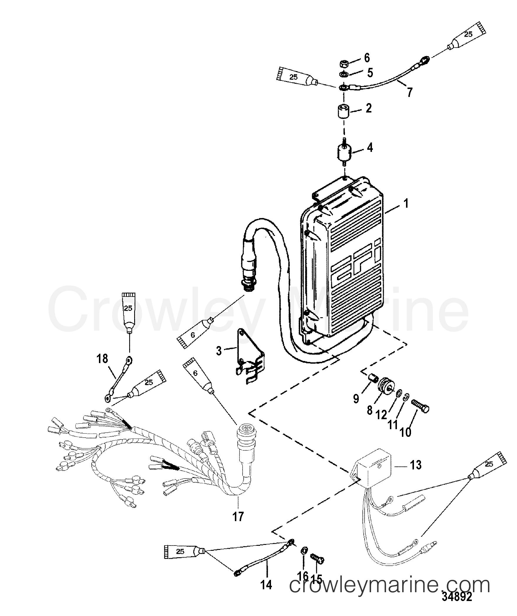 ecu assembly  super mag 0g857000 thru