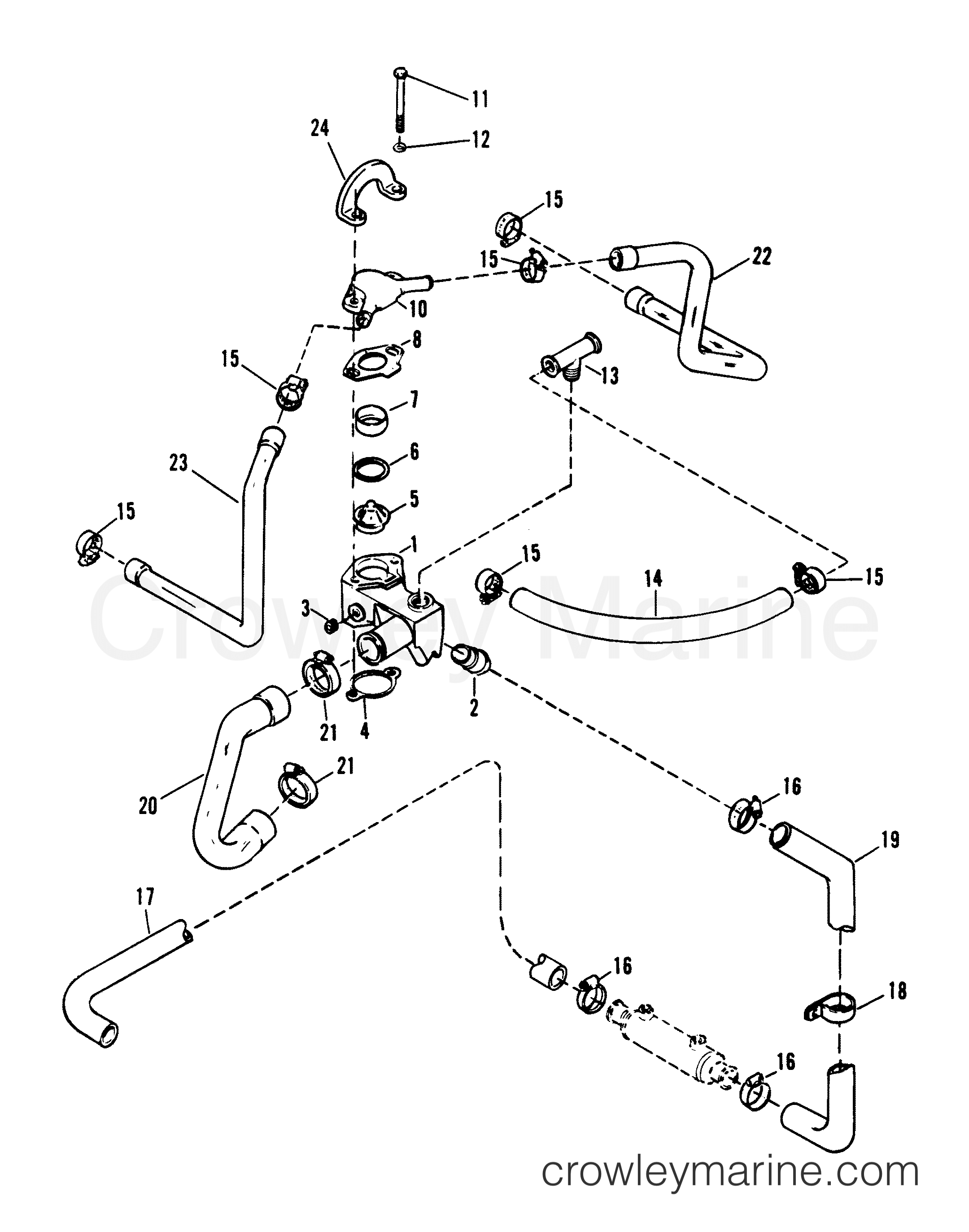 thermostat housing old design