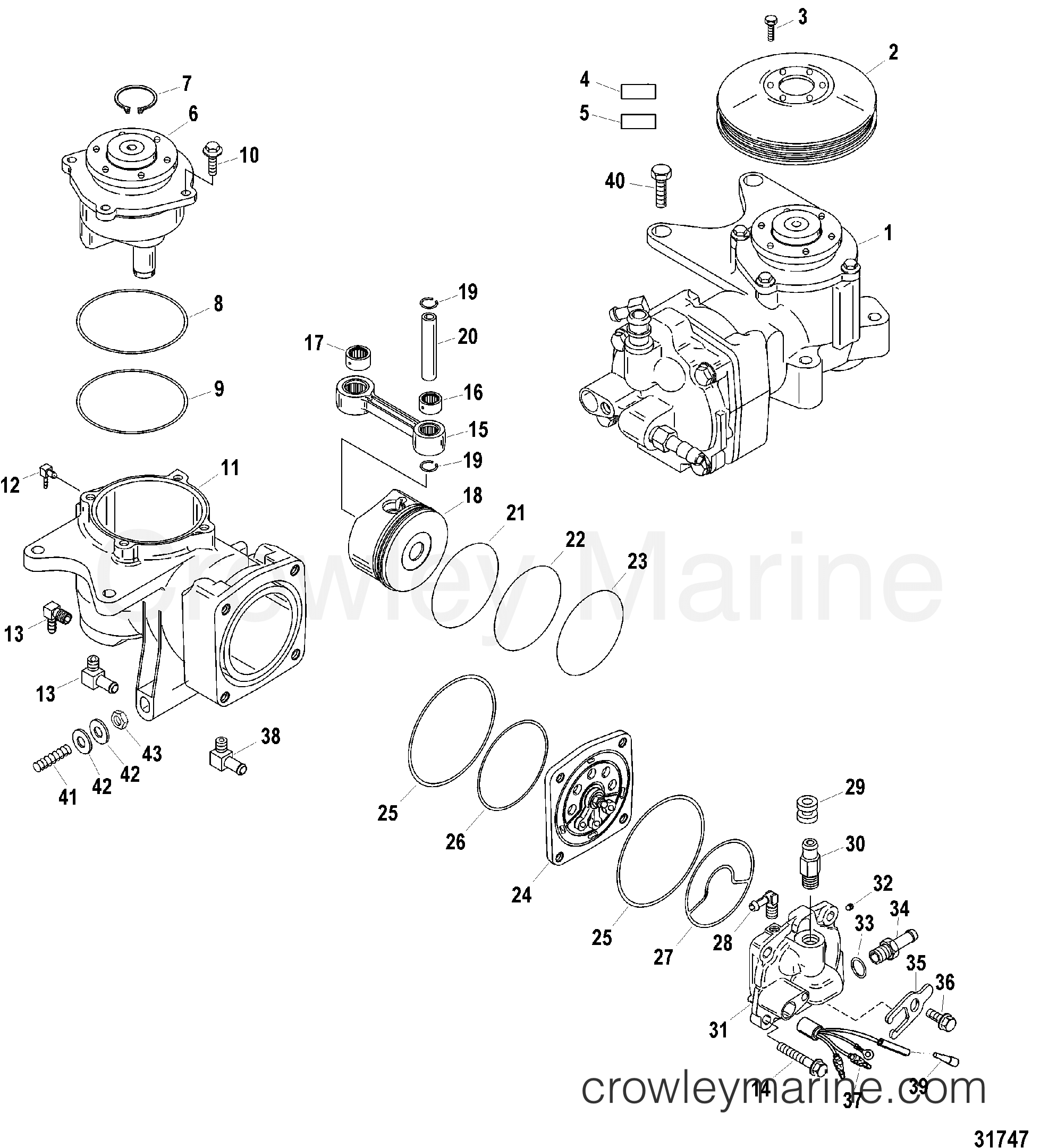mercury outboard compressor parts diagram  u2022 wiring diagram