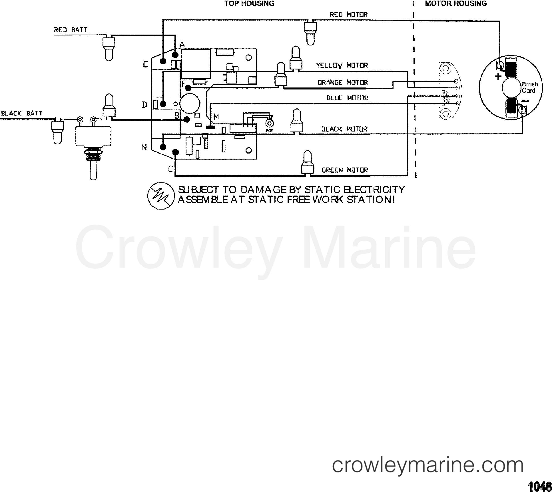 1999 MotorGuide 12V [MOTORGUIDE] - 9GW3637VU WIRE DIAGRAM(MODEL GWB107V / GWT107V) section