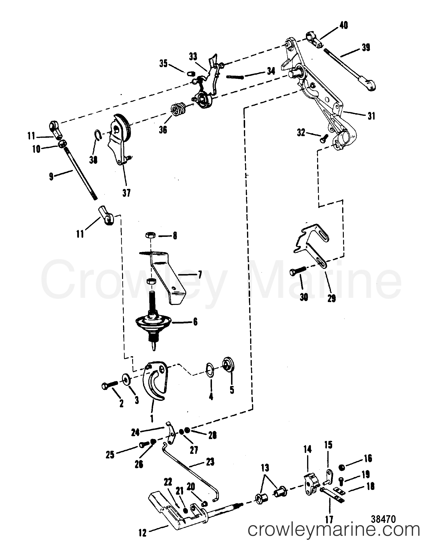 throttle and shift linkage mariner  manual