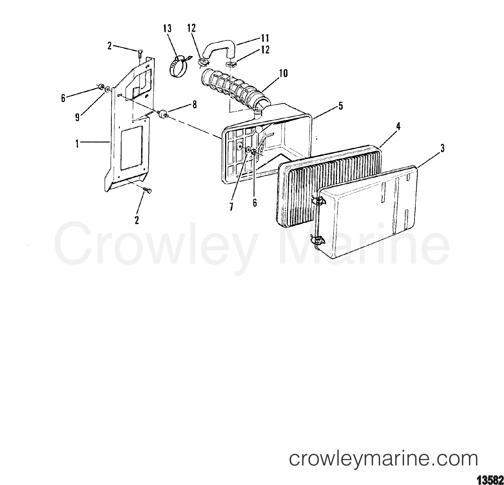 1993 Mercruiser 530D [BRAVO] - 430B1103D AIR CLEANER(OLD DESIGN) section