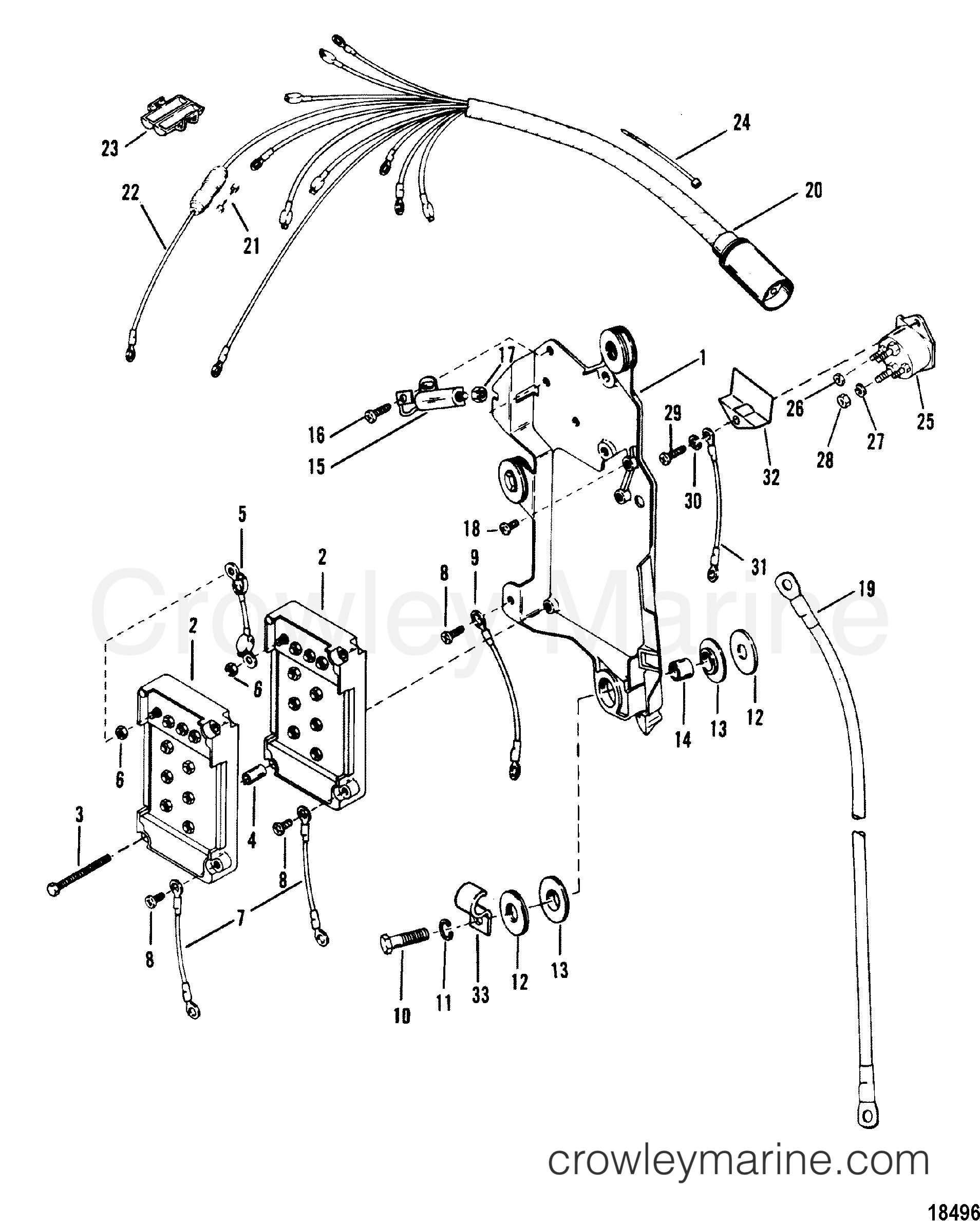 mariner outboard engine wiring diagram wiring harness starter solenoid 1989 mariner outboard 135  l  wiring harness starter solenoid 1989