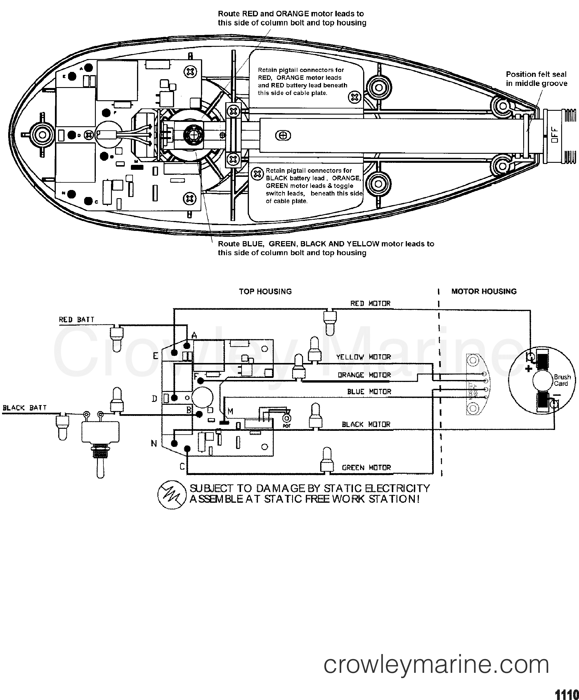 2002 MotorGuide 12V [MOTORGUIDE] - 9EF45BAZJ - WIRE DIAGRAM(MODEL ET107V) (36 VOLT) section