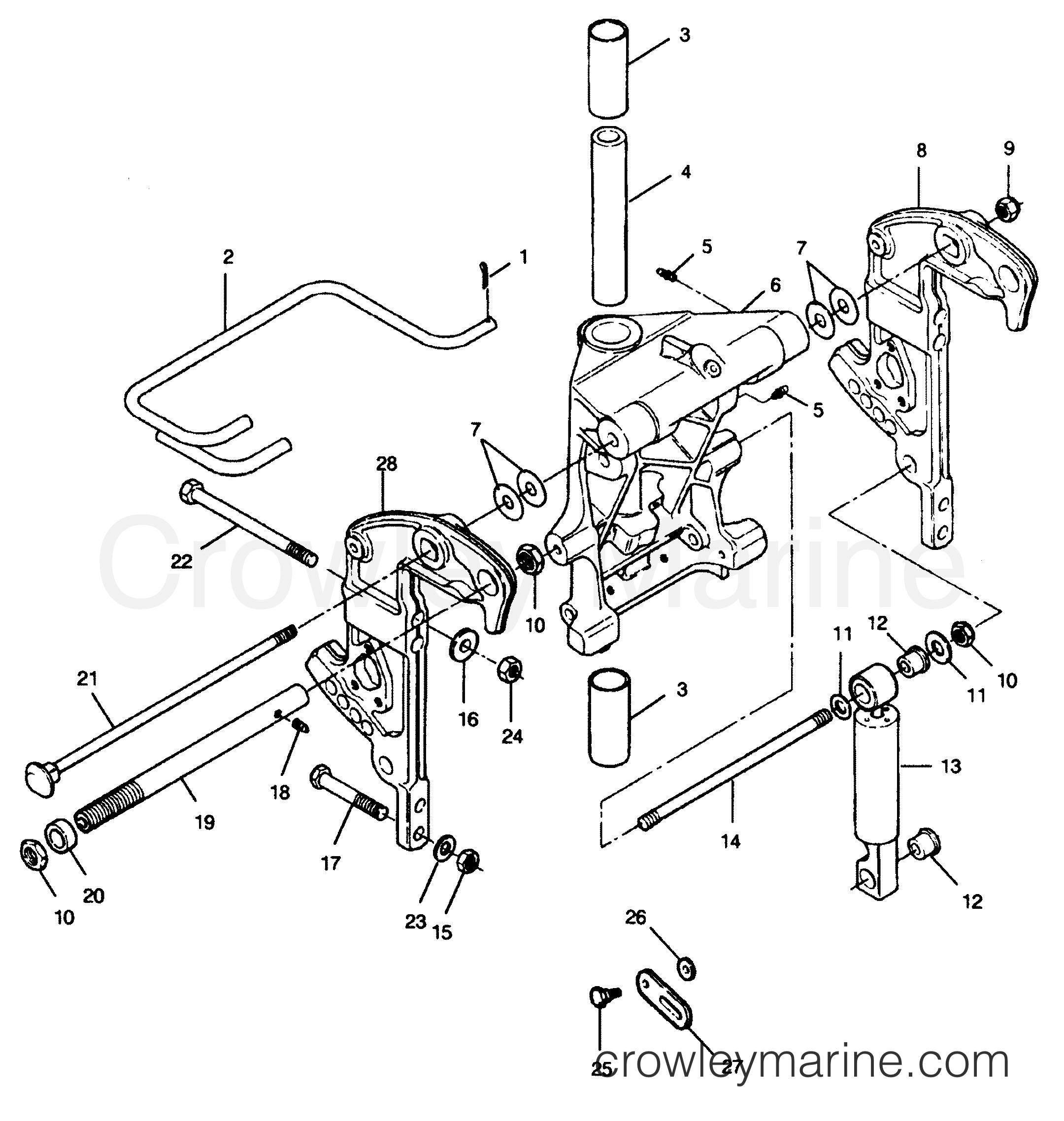 swivel bracket and stern brackets power trim models