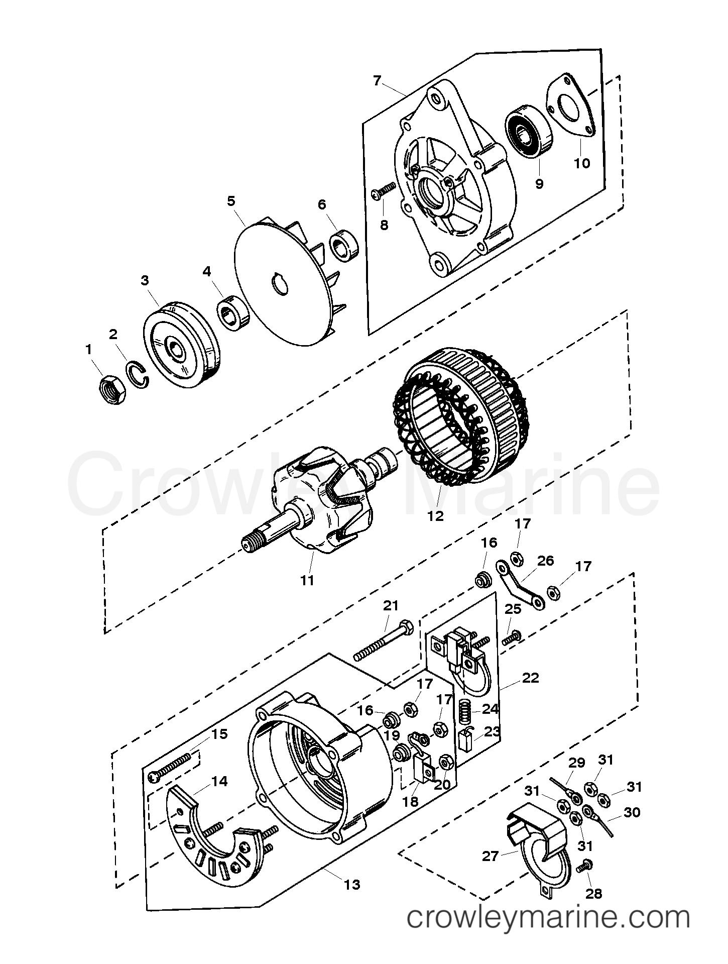 alternator assembly  mando   ac-155603
