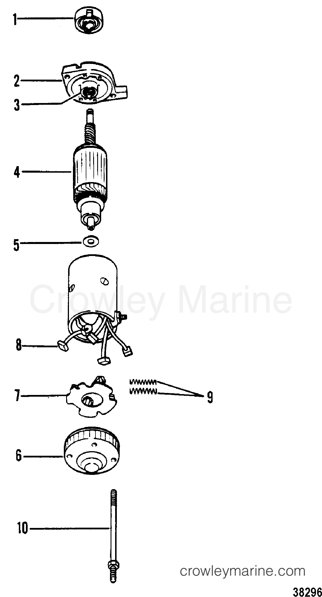 1980 Mercury Outboard 70 [ELPT] -  1070620 - STARTER MOTOR ASSEMBLY(PRESTOLITE) section