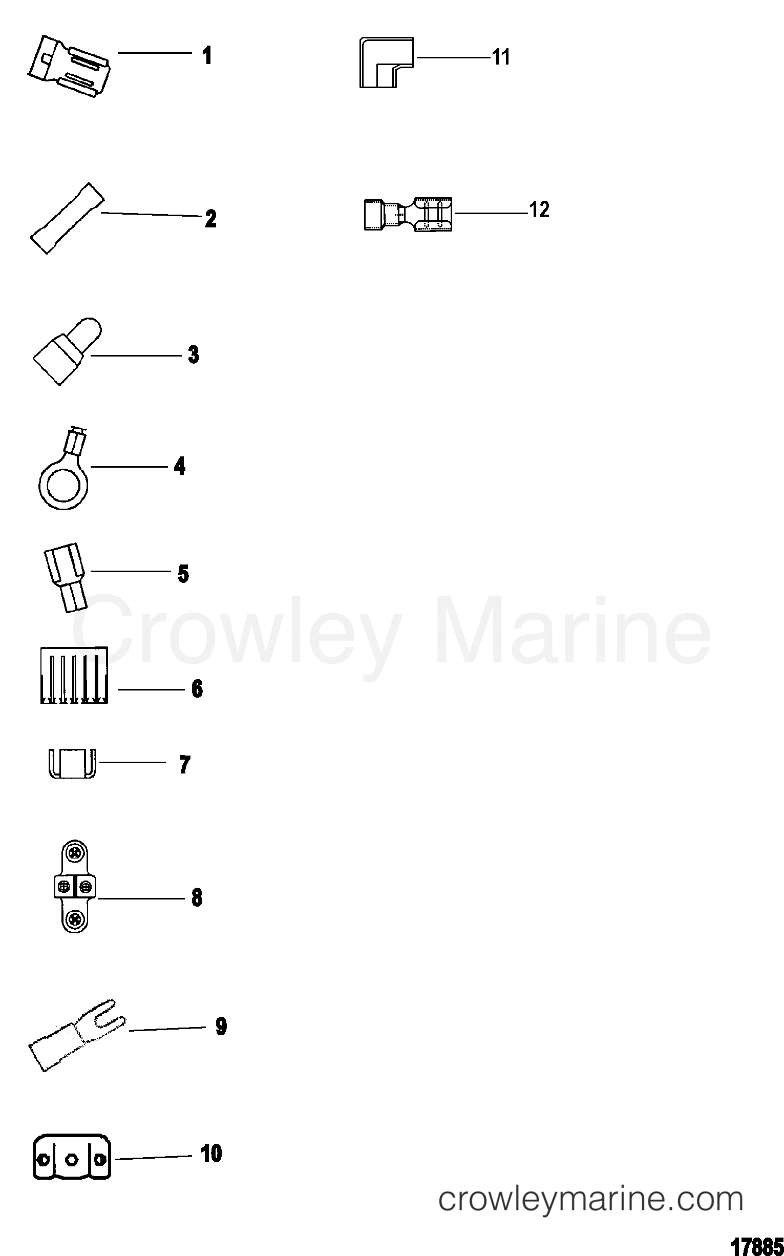 2005 MotorGuide 12V [MOTORGUIDE] - 921310040 - ELECTRICAL CONNECTORS AND TERMINALS section
