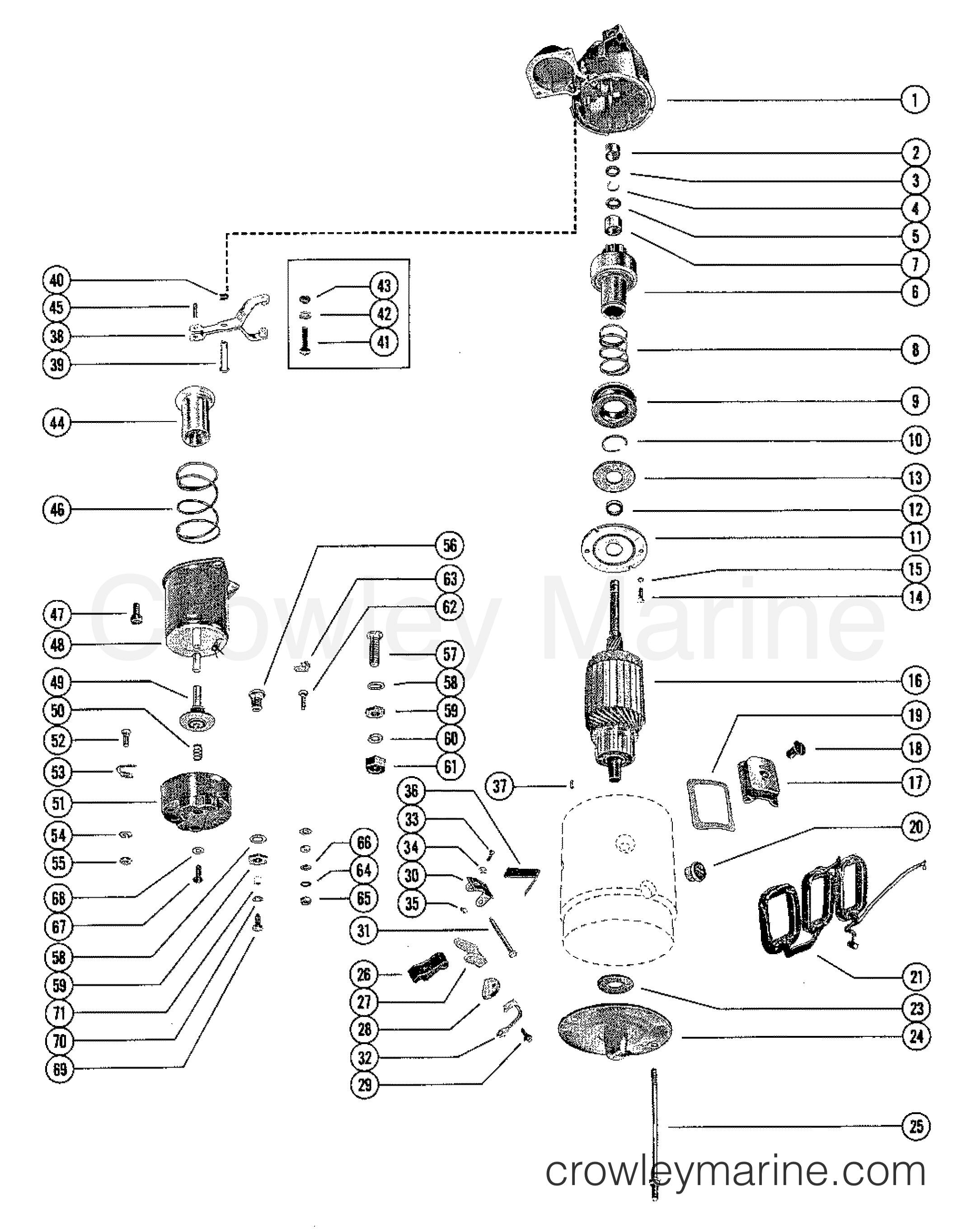 starter motor assembly  complete  b-50-77328a1