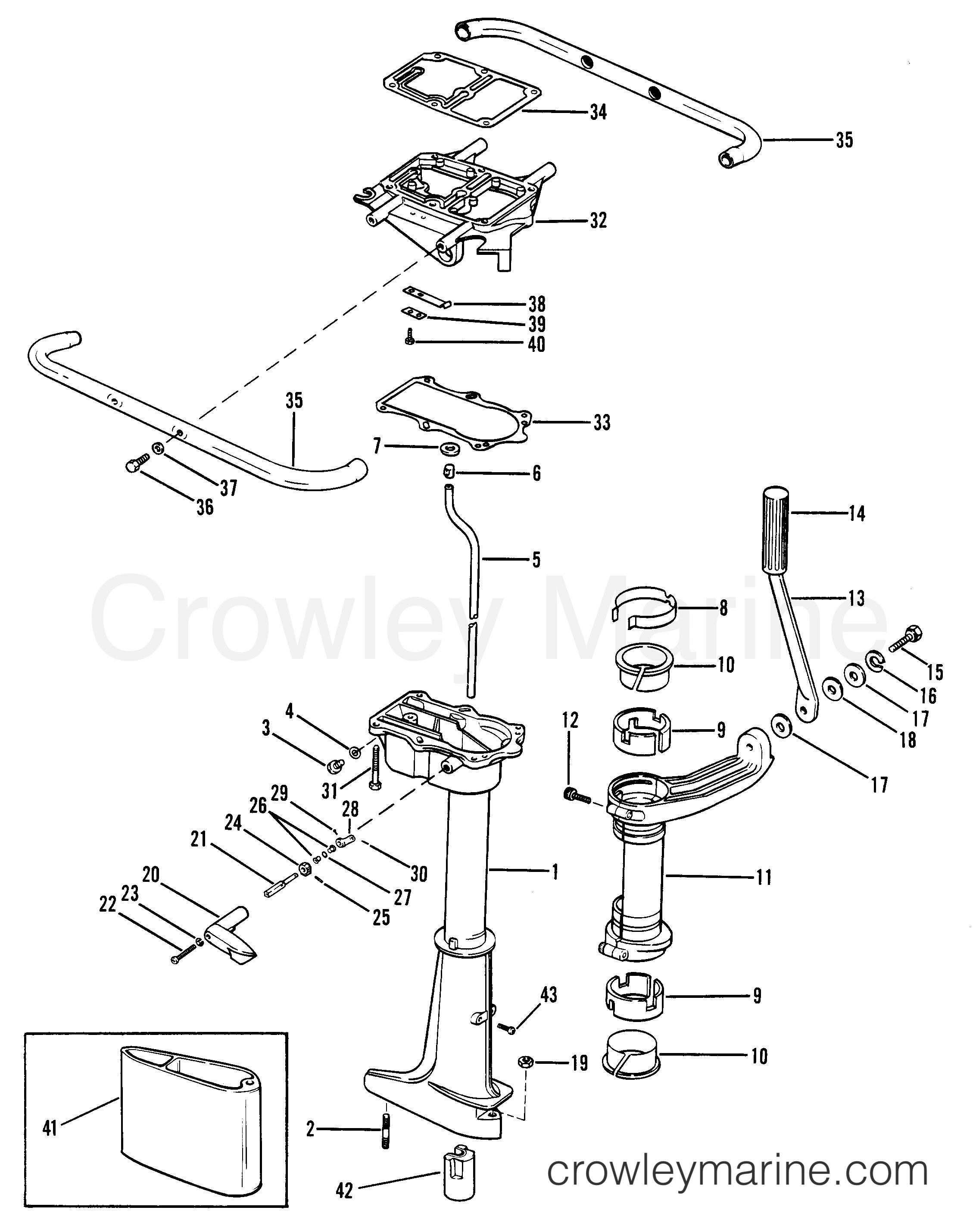 Diagram Of 1983 Mercury Marine Mercury Outboard 1050203 Drive Shaft