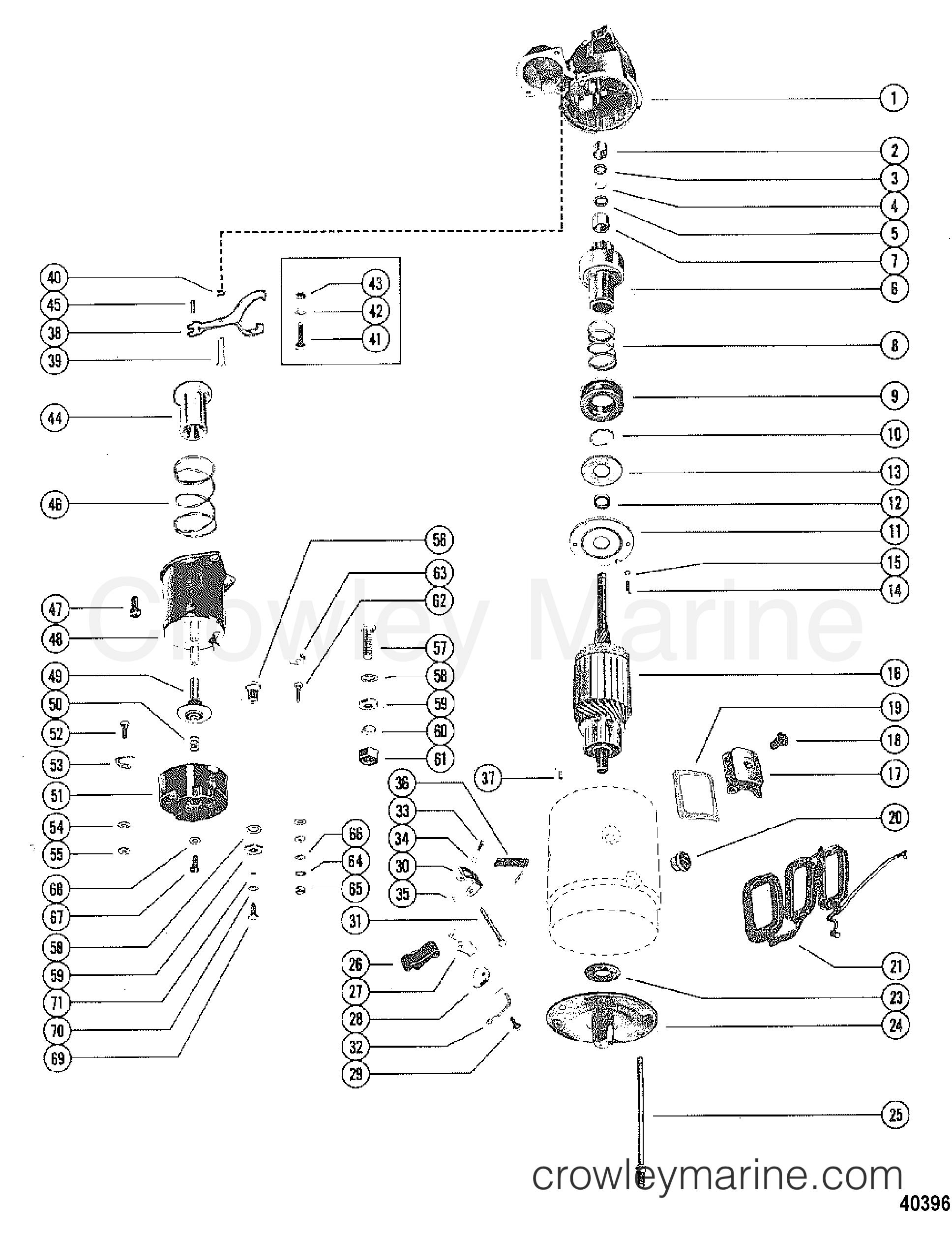 Starter Motor Assemblydelco Remy 1109484 85 88 90 1982 120 Mercruiser Engine Wiring Diagram 01206002