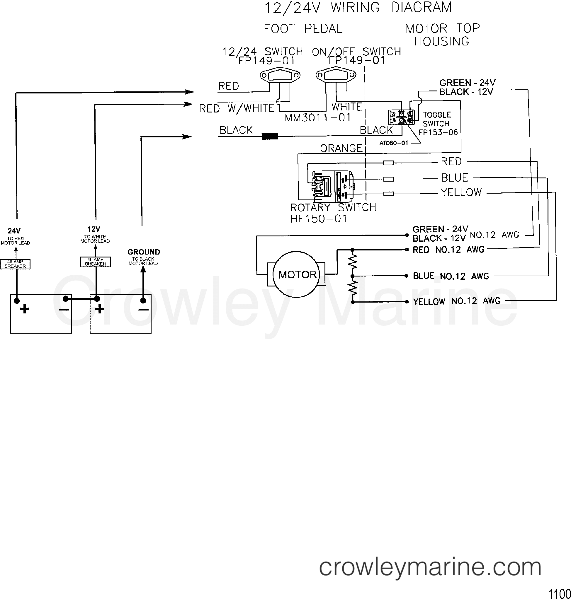 1999 MotorGuide 12/24V [MOTORGUIDE] - 9667B49V1 - WIRE DIAGRAM(MODEL 667