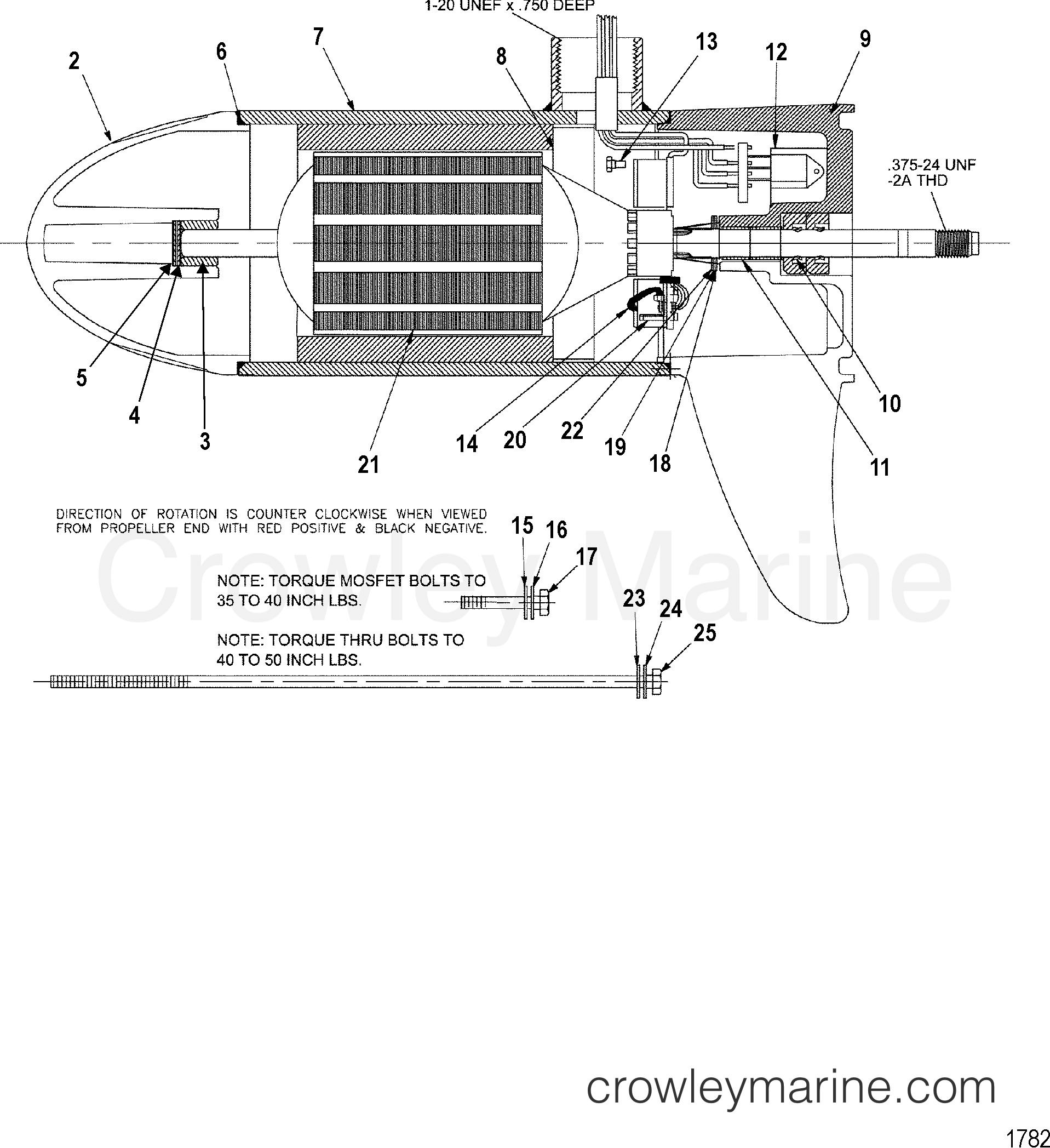 2000 MotorGuide 24V [MOTORGUIDE] - 9EF60V8W2 - LOWER UNIT ASSEMBLY(45# - VARIABLE) (MCM397042) section