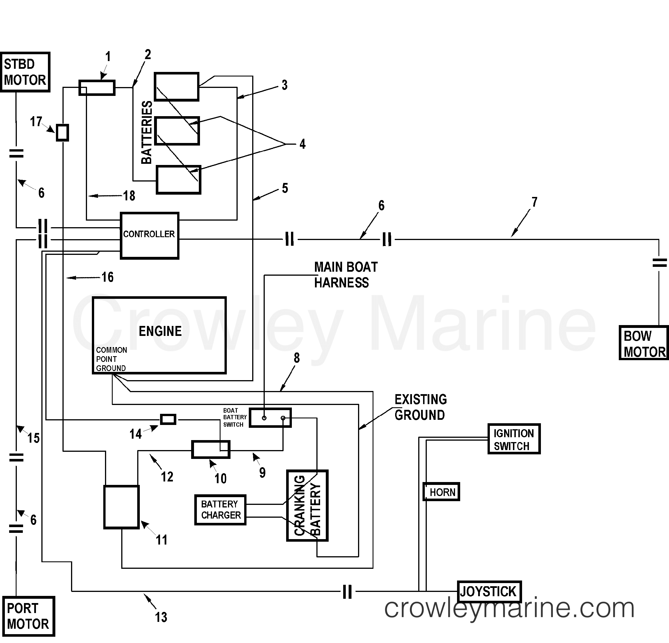 Various Years Rigging Parts Docking System - 0H023100 AND UP - WIRE HARNESS  AND COMPONENTS section