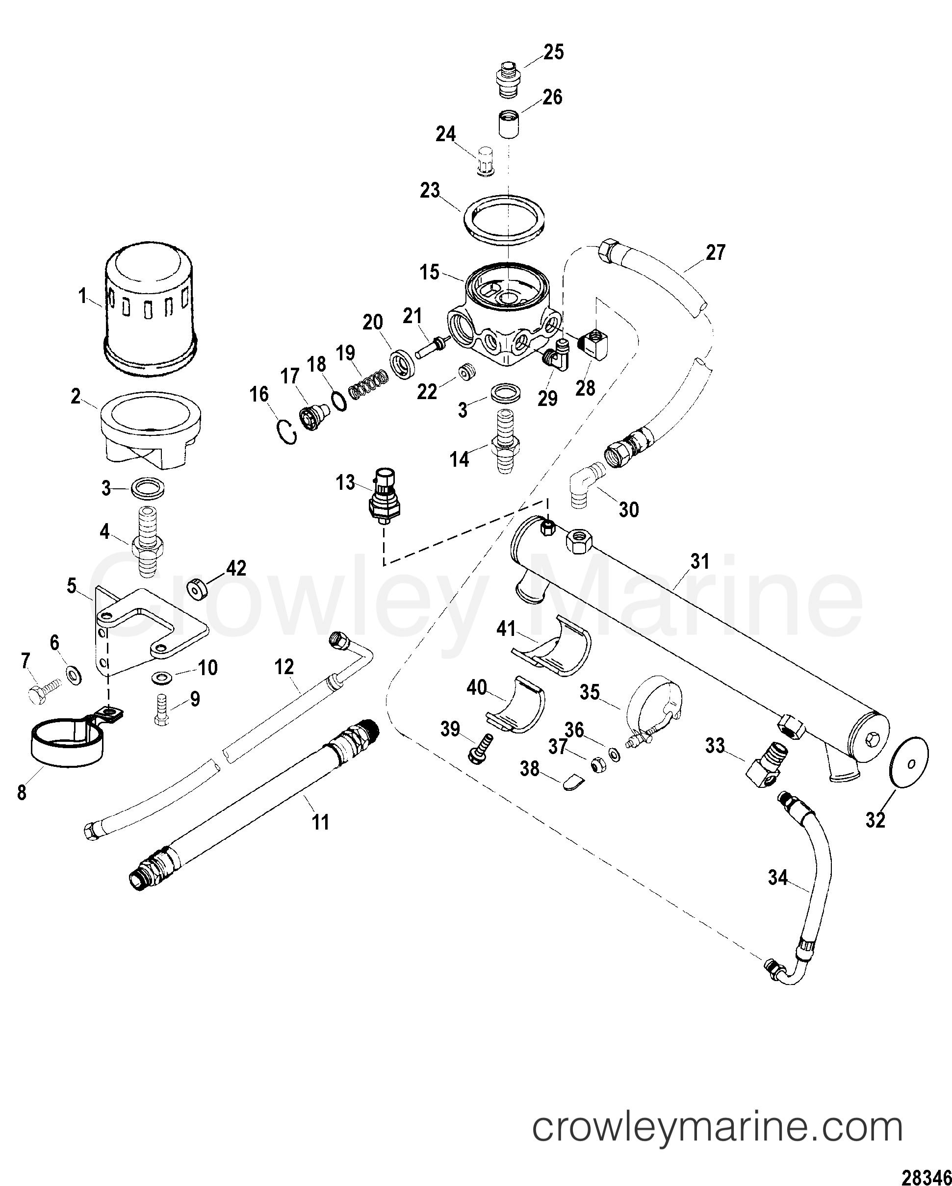 oil cooler and oil filter engine