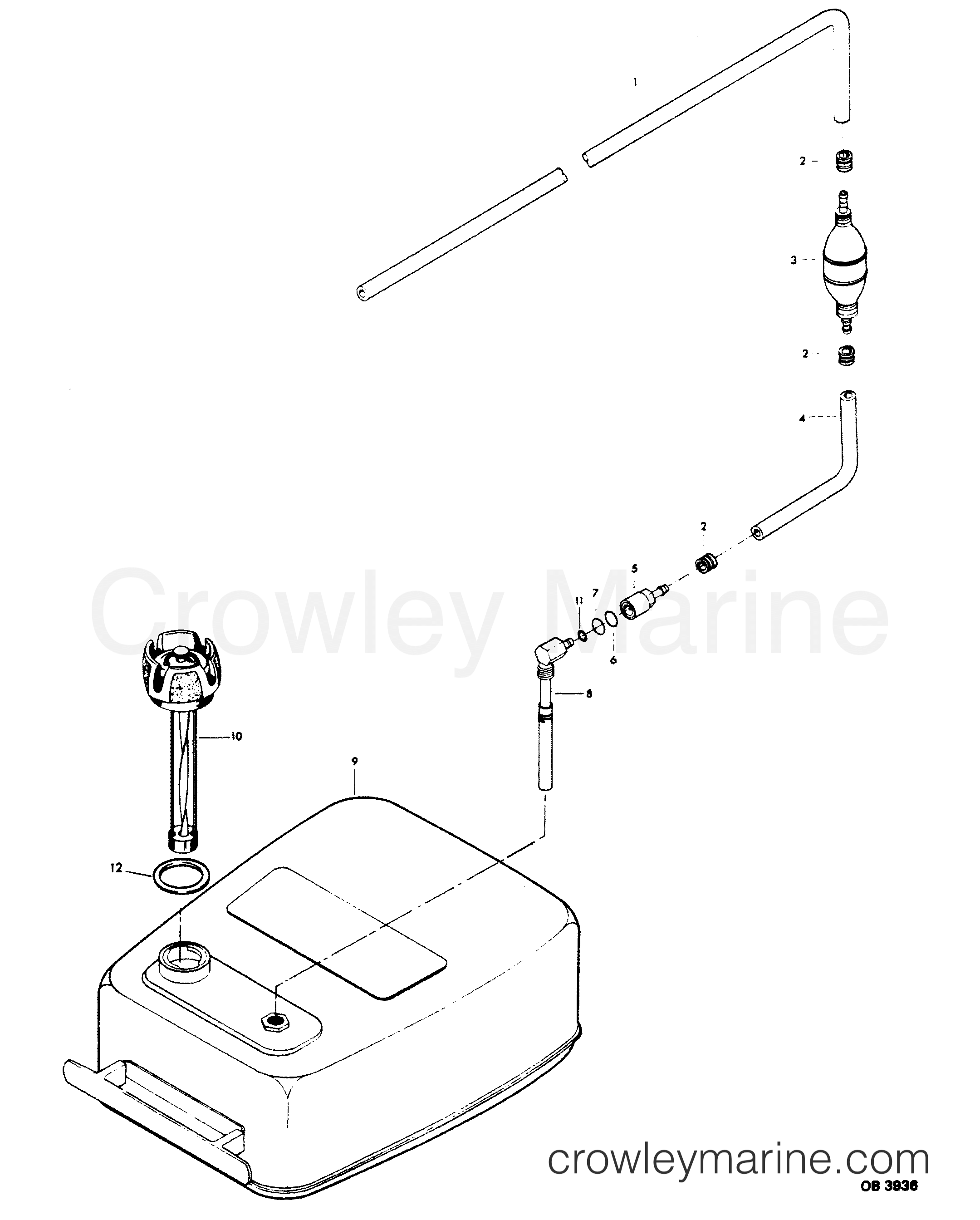 1985 Force Outboard 60 - 608F5A [Force] - FUEL TANK AND LINE section