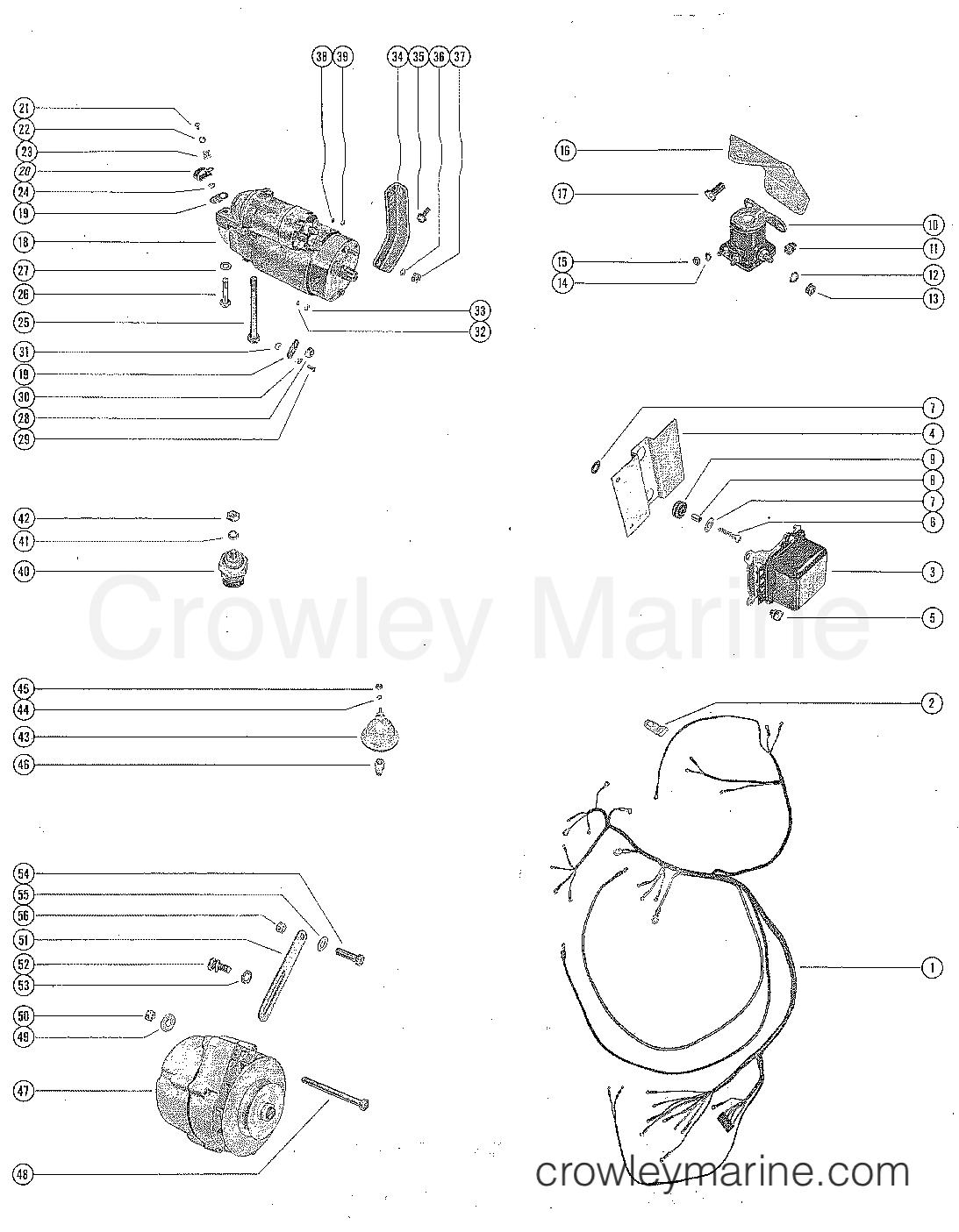 starter motor alternator and wiring harness serial range rh crowleymarine com