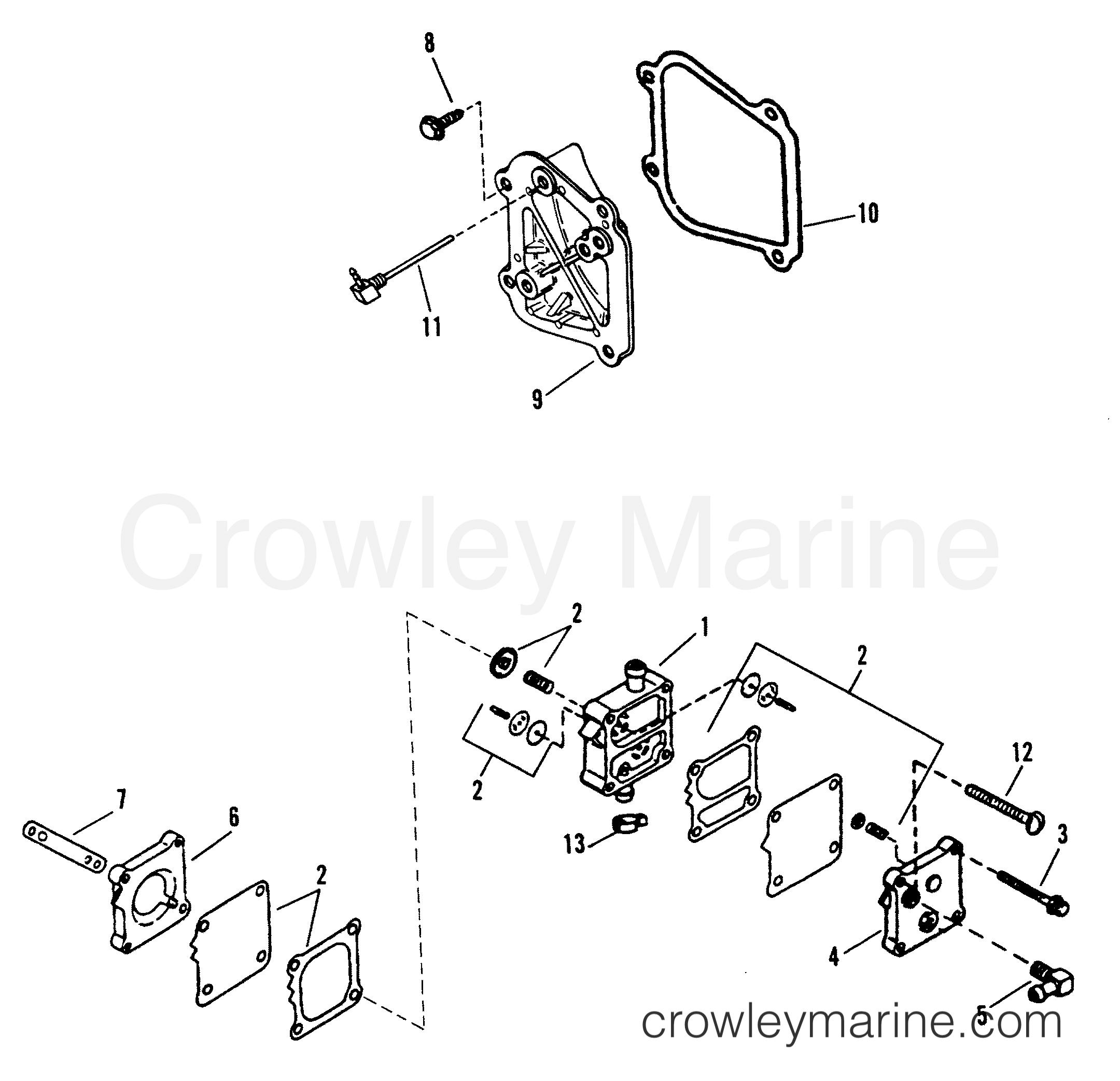 Fuel Pump Assembly E065372 E093699 1993 Force Outboard
