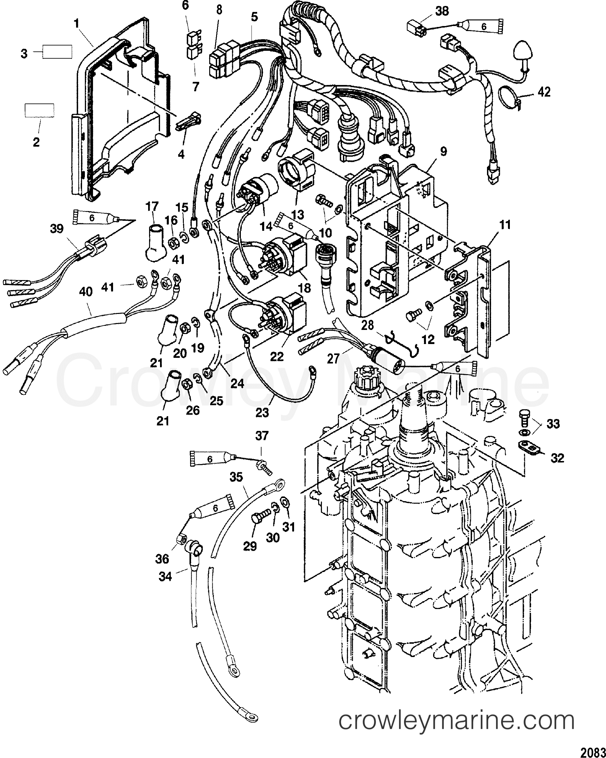 Mariner Outboard Wiring Diagram 2004 Expert Schematics 75 Mercury Optimax Electrical Components Elpt 4 7f75412rd Ignition Switch